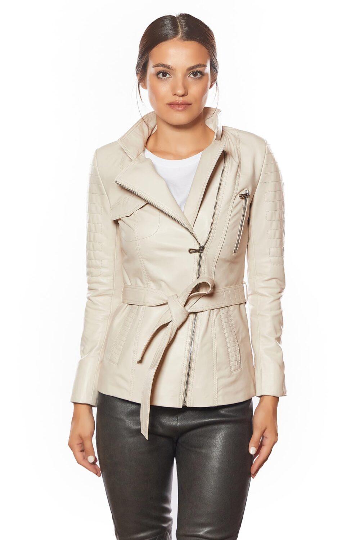 womens best beige leather jacket