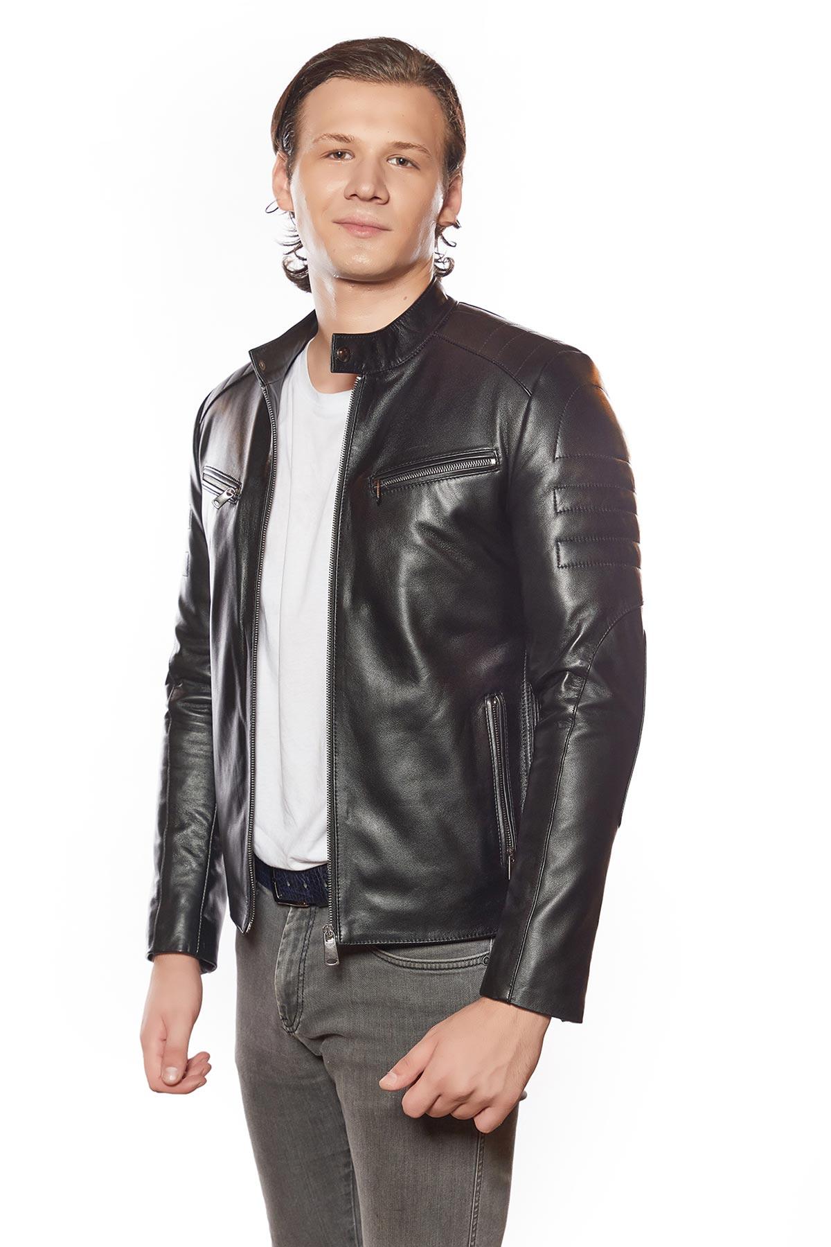 leather suit jacket mens