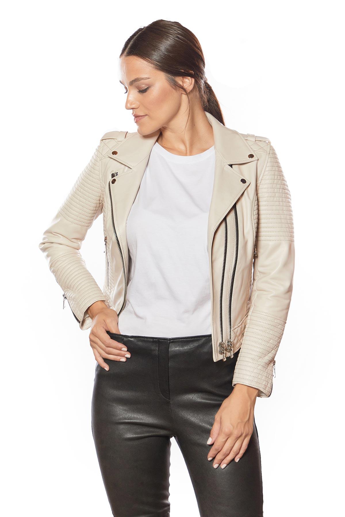 leather biker jacket in