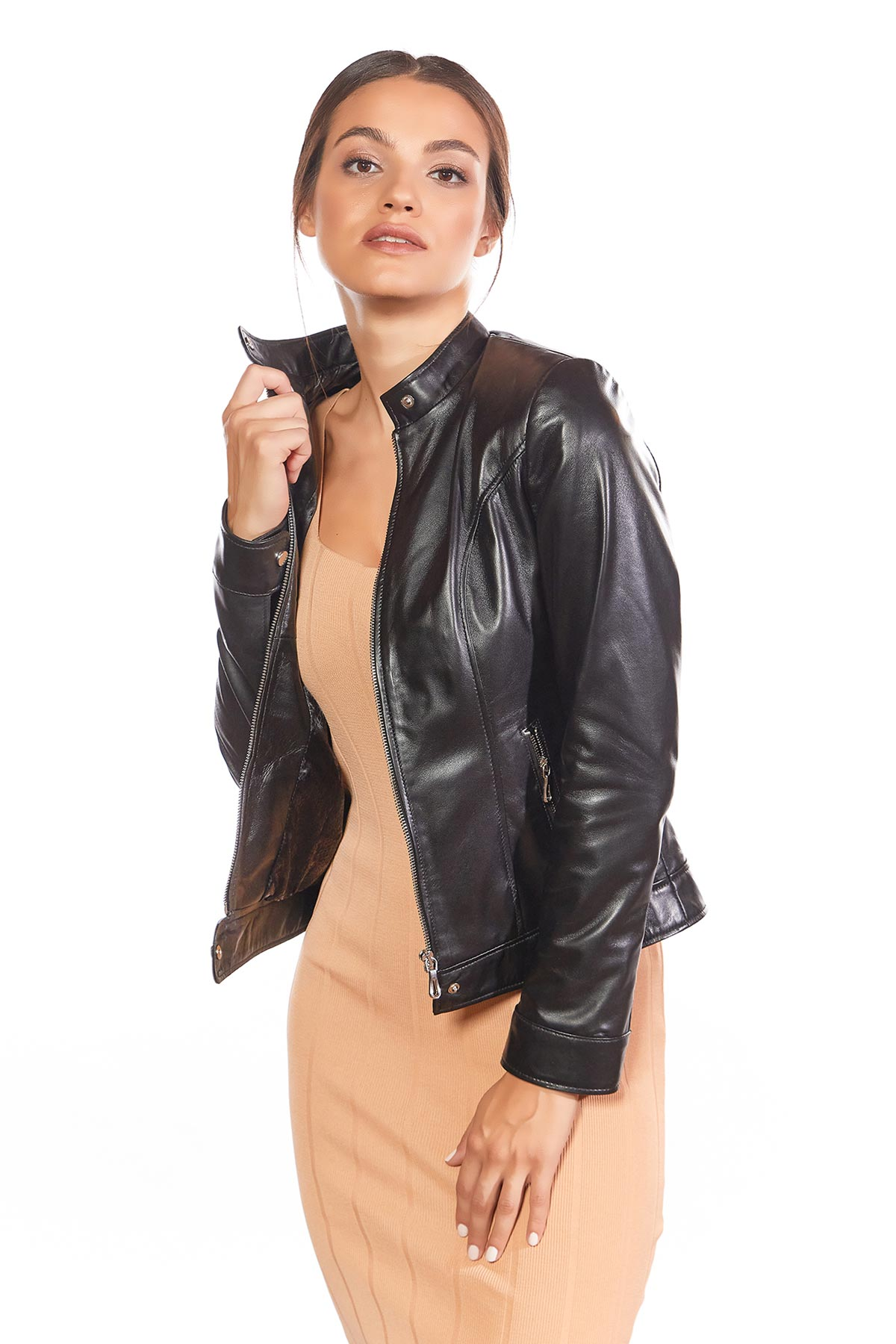 express genuine leather jacket