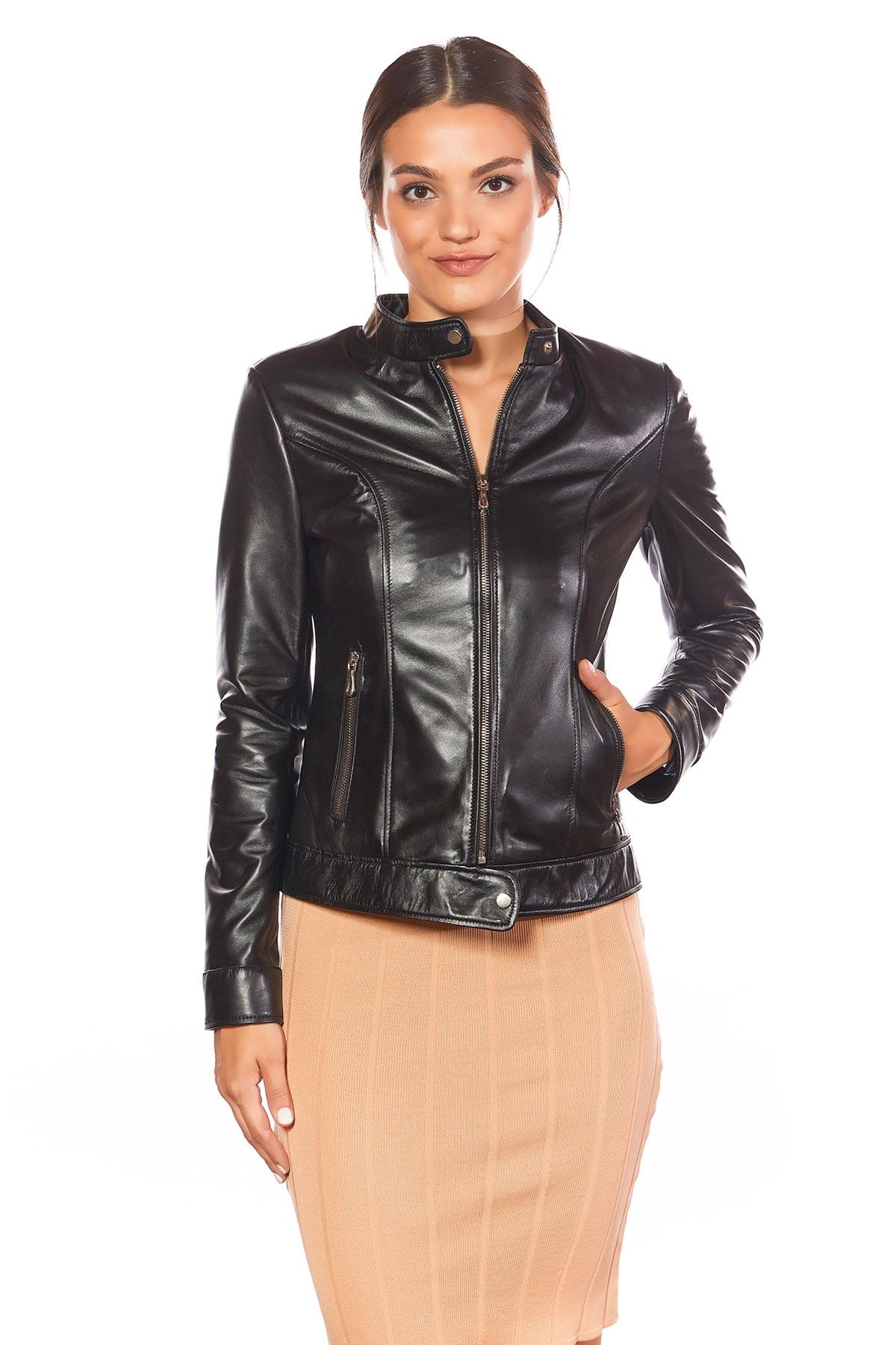 women's plus size leather jacket