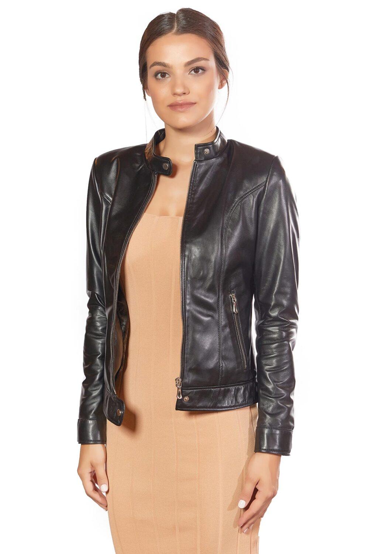 Bella Genuine Leather Women's Jacket Black