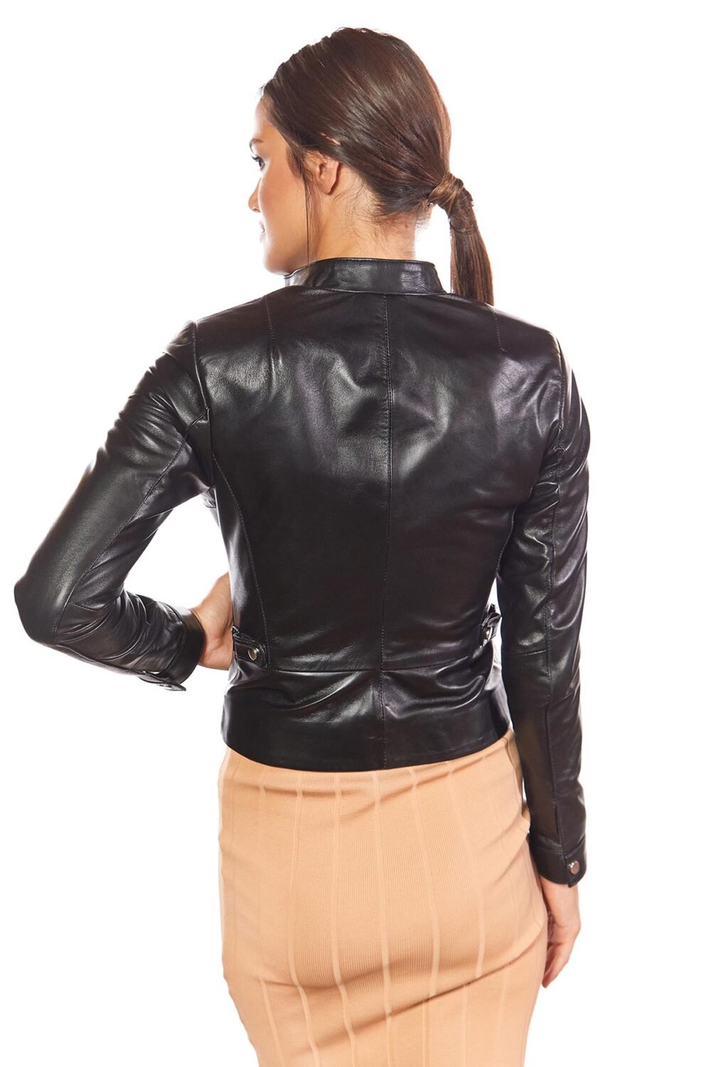 womens black leather jackets
