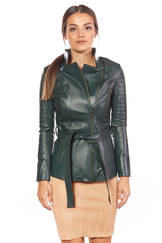 Gia Genuine Women's Leather Jacket Green