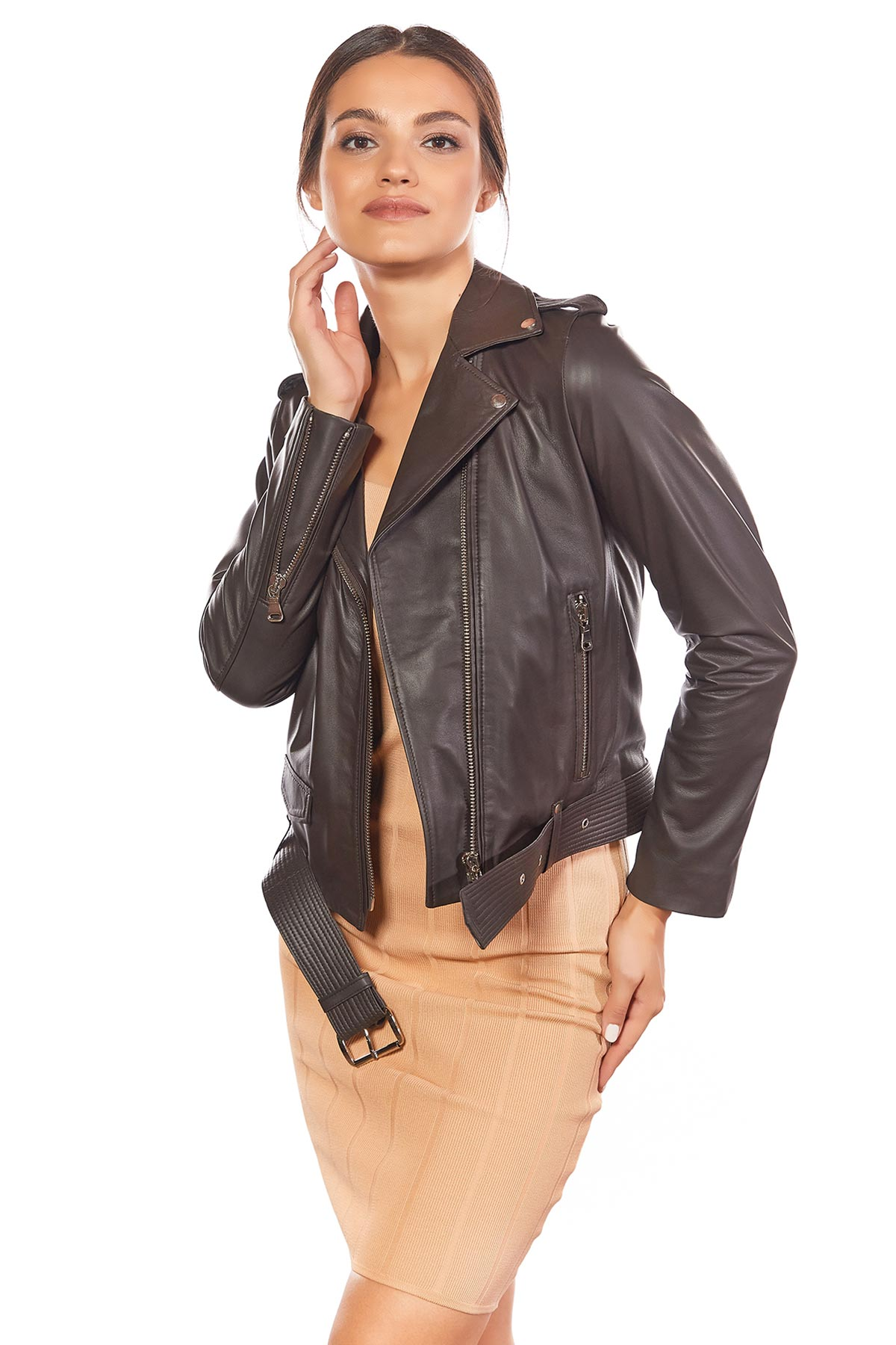how to tell real leather jacket