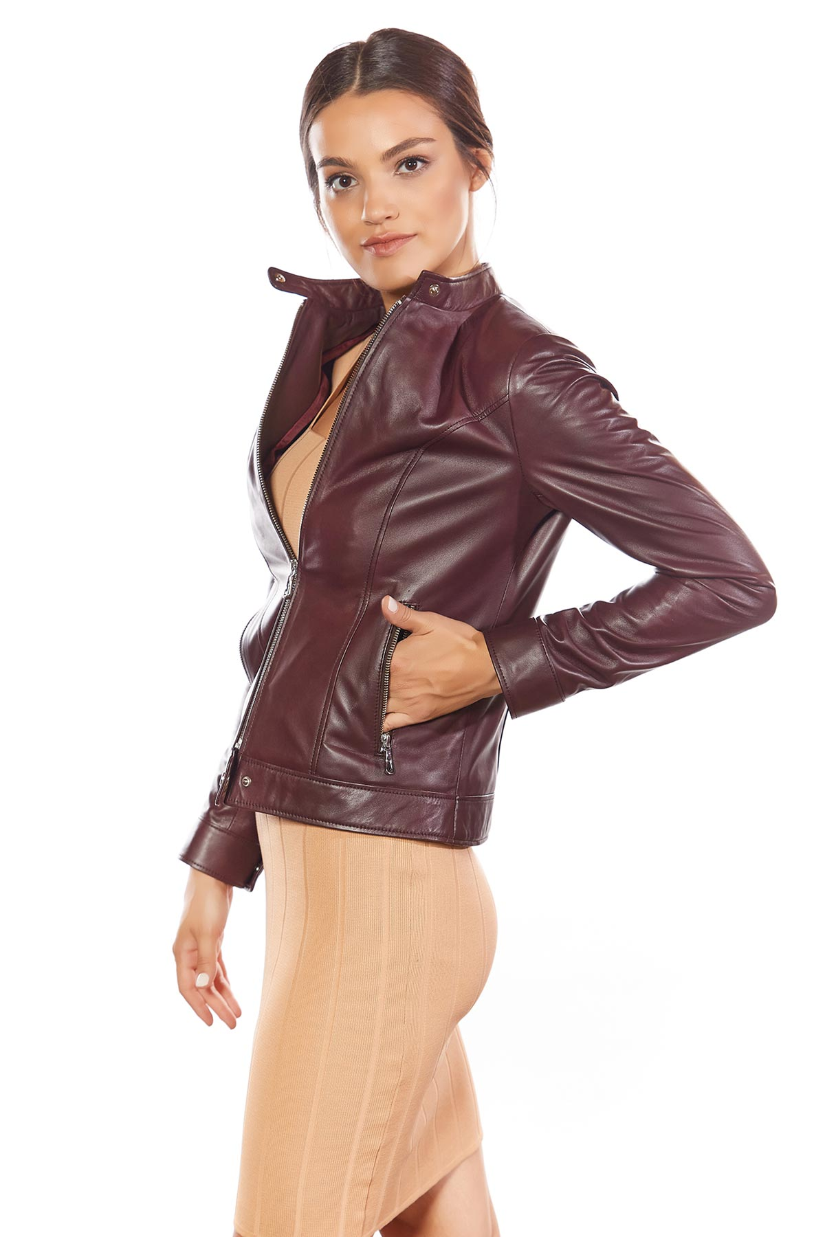 real leather dress jackets