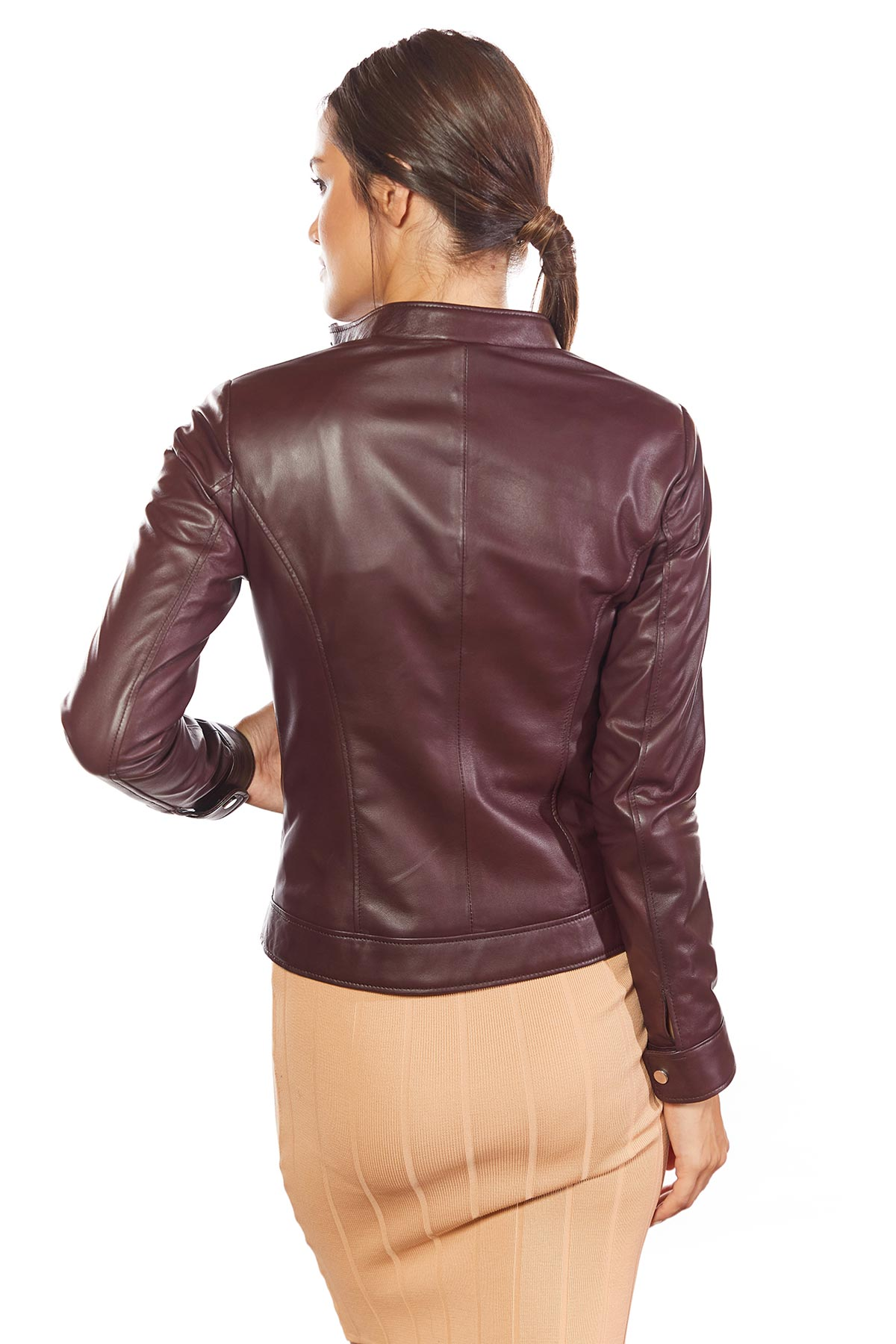 real leather jacket size 14