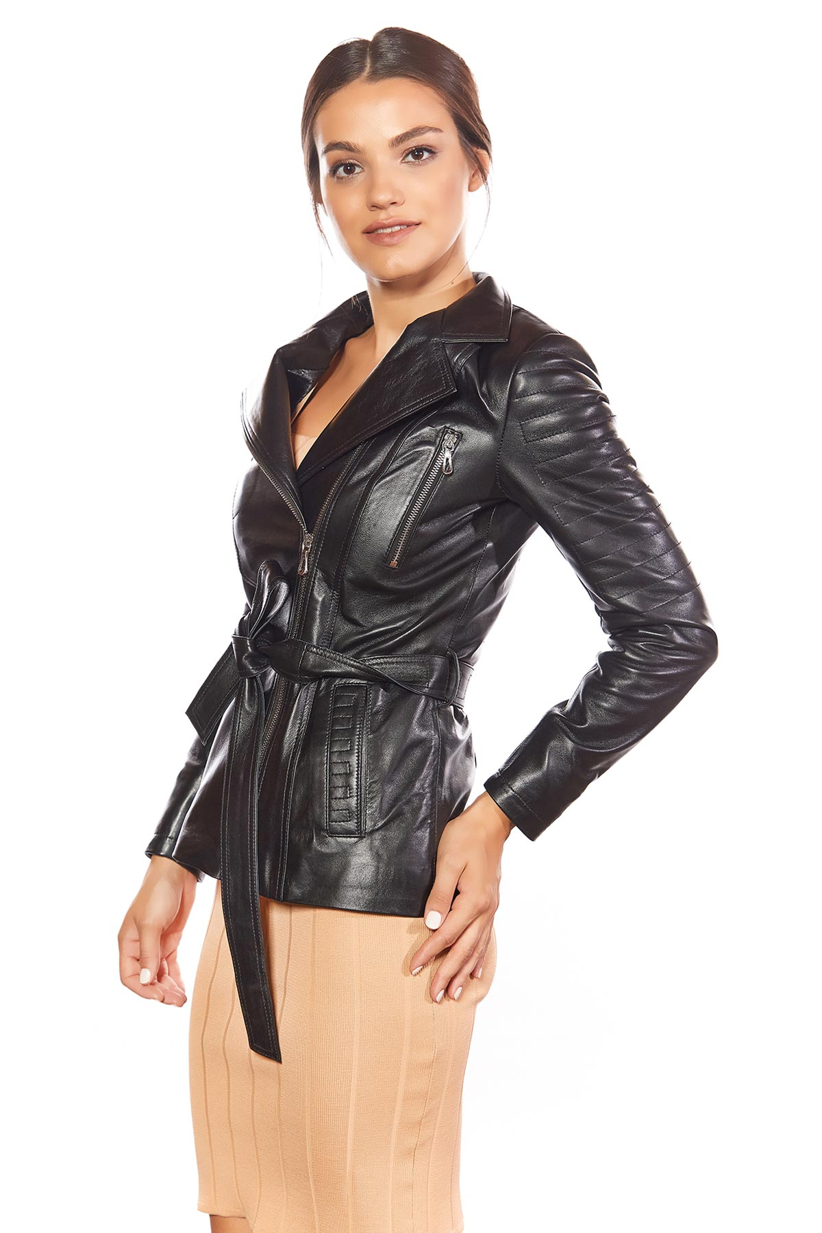 womens patent leather jacket
