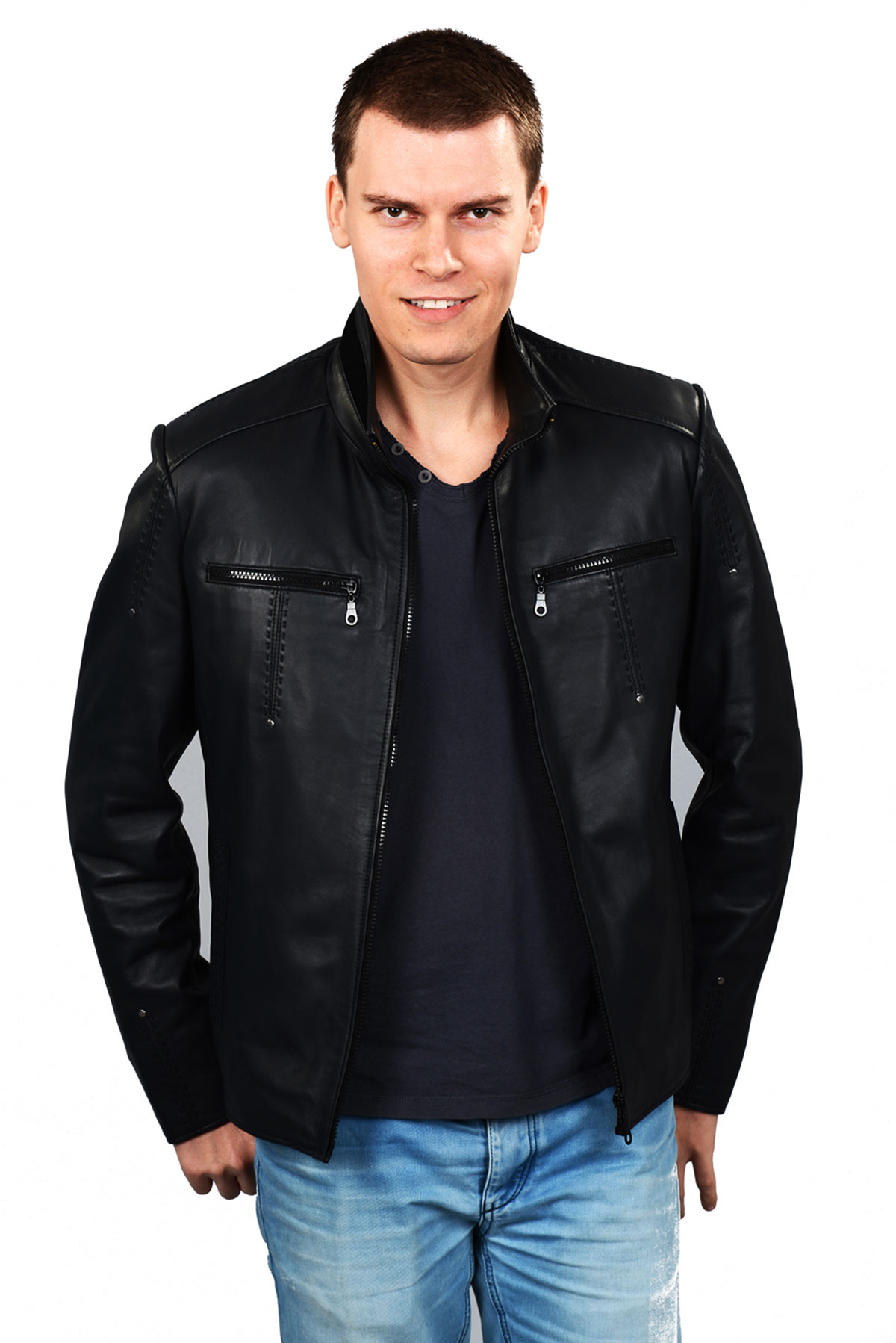 branded mens leather jacket