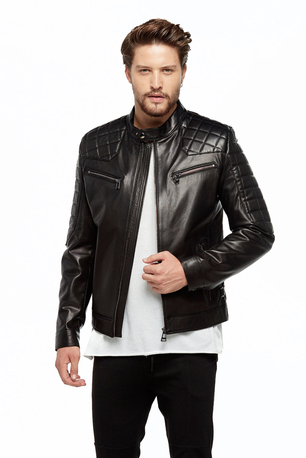 real leather jacket zara