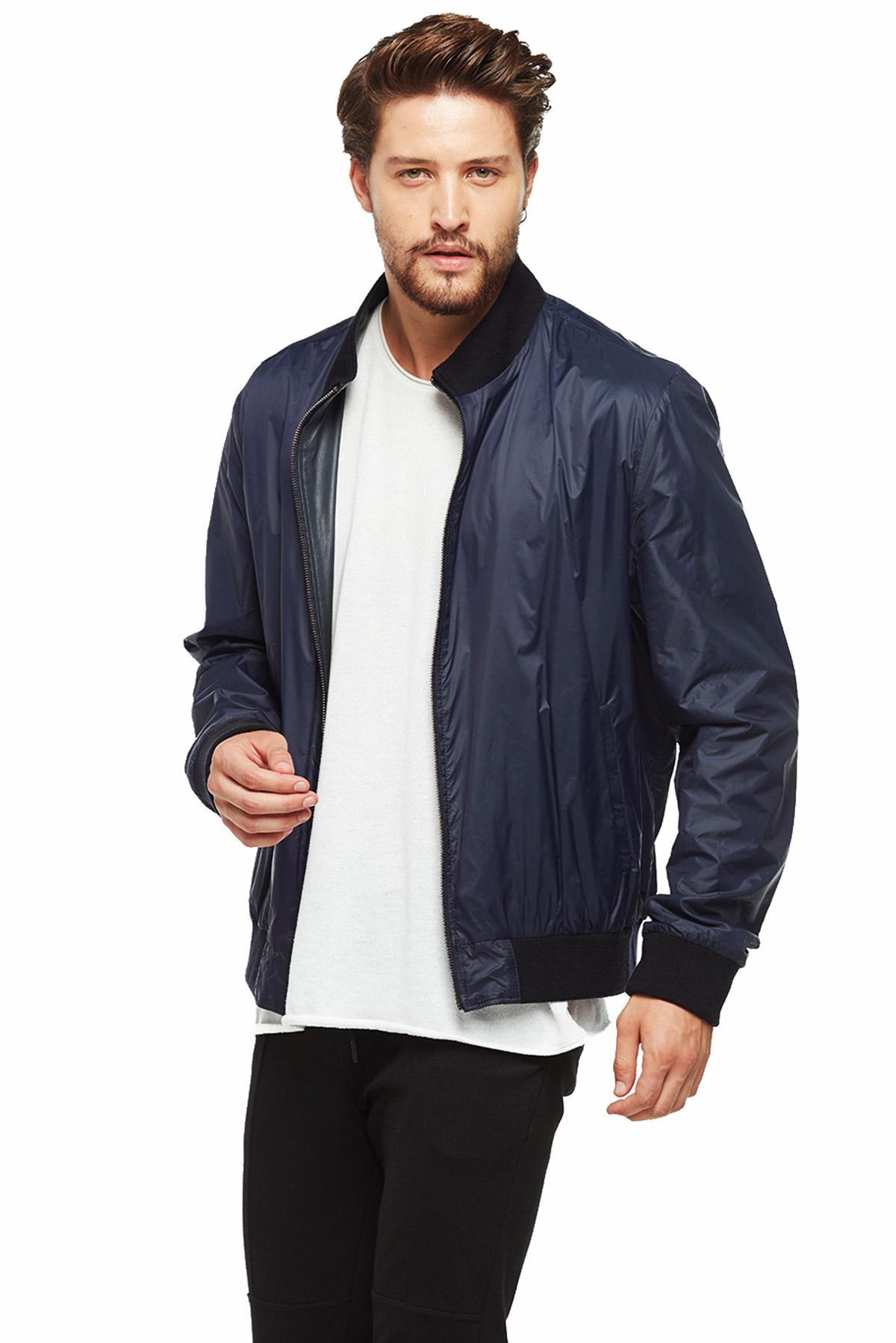 real leather jacket oversized
