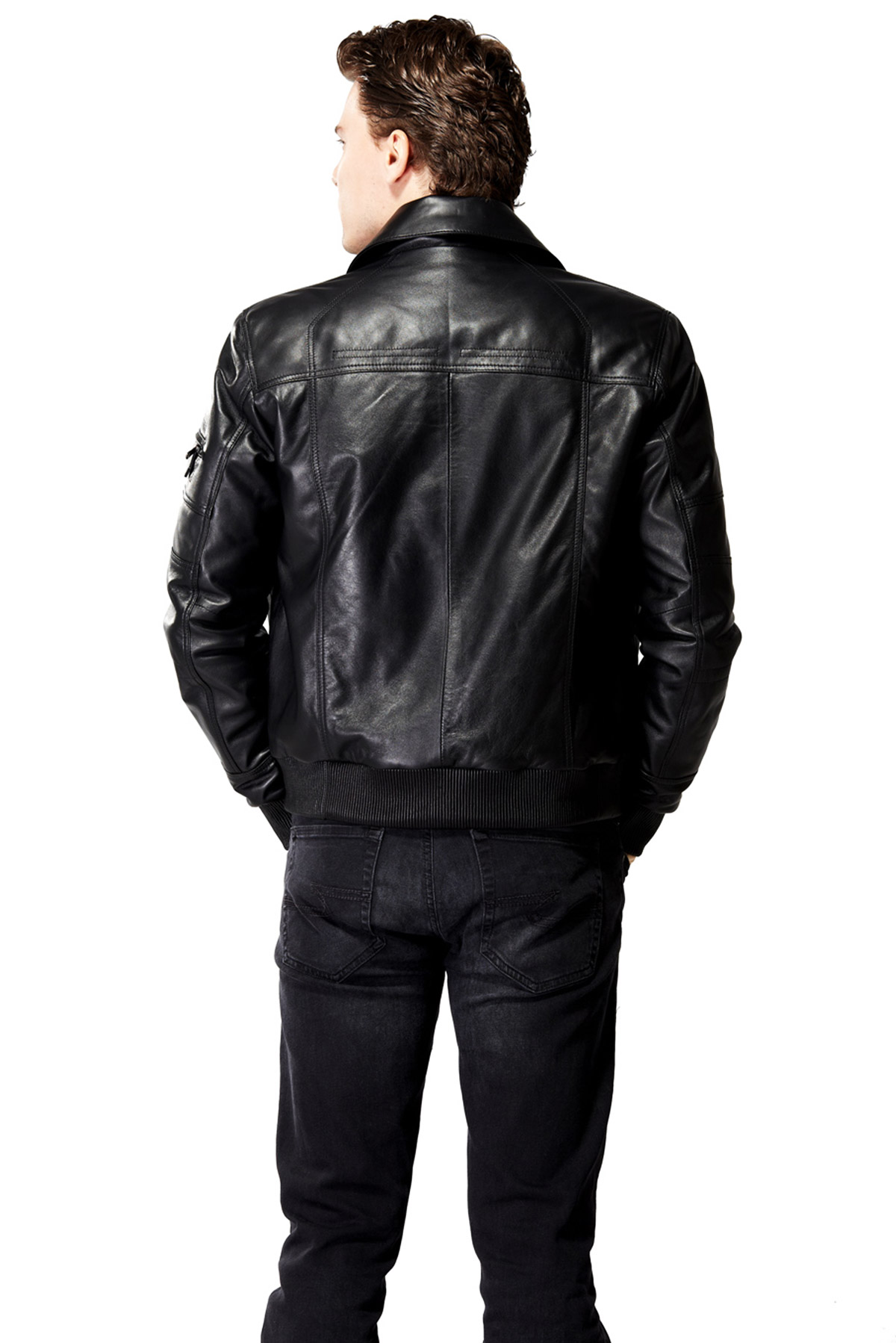 real leather jacket made in england
