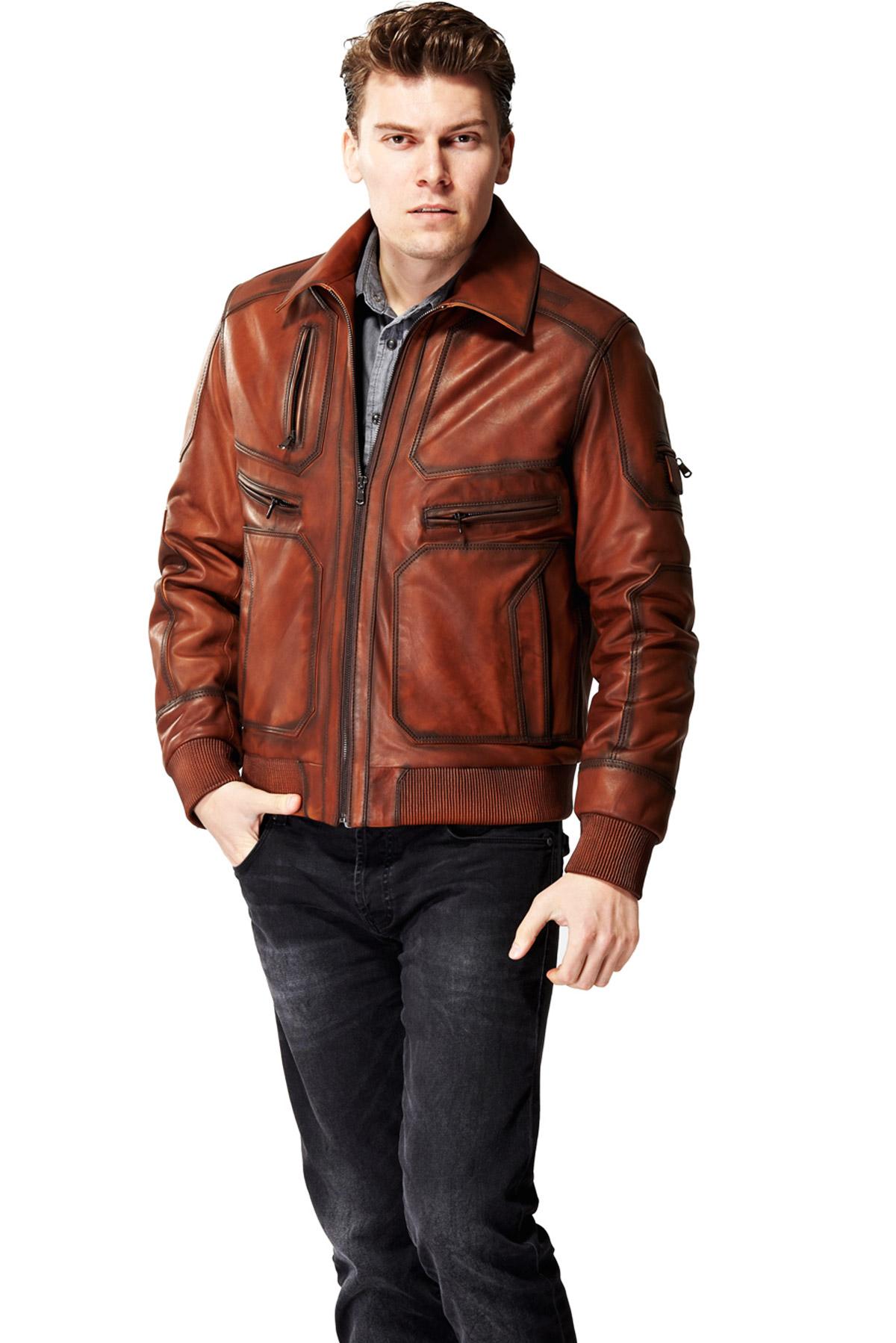 leather jacket back