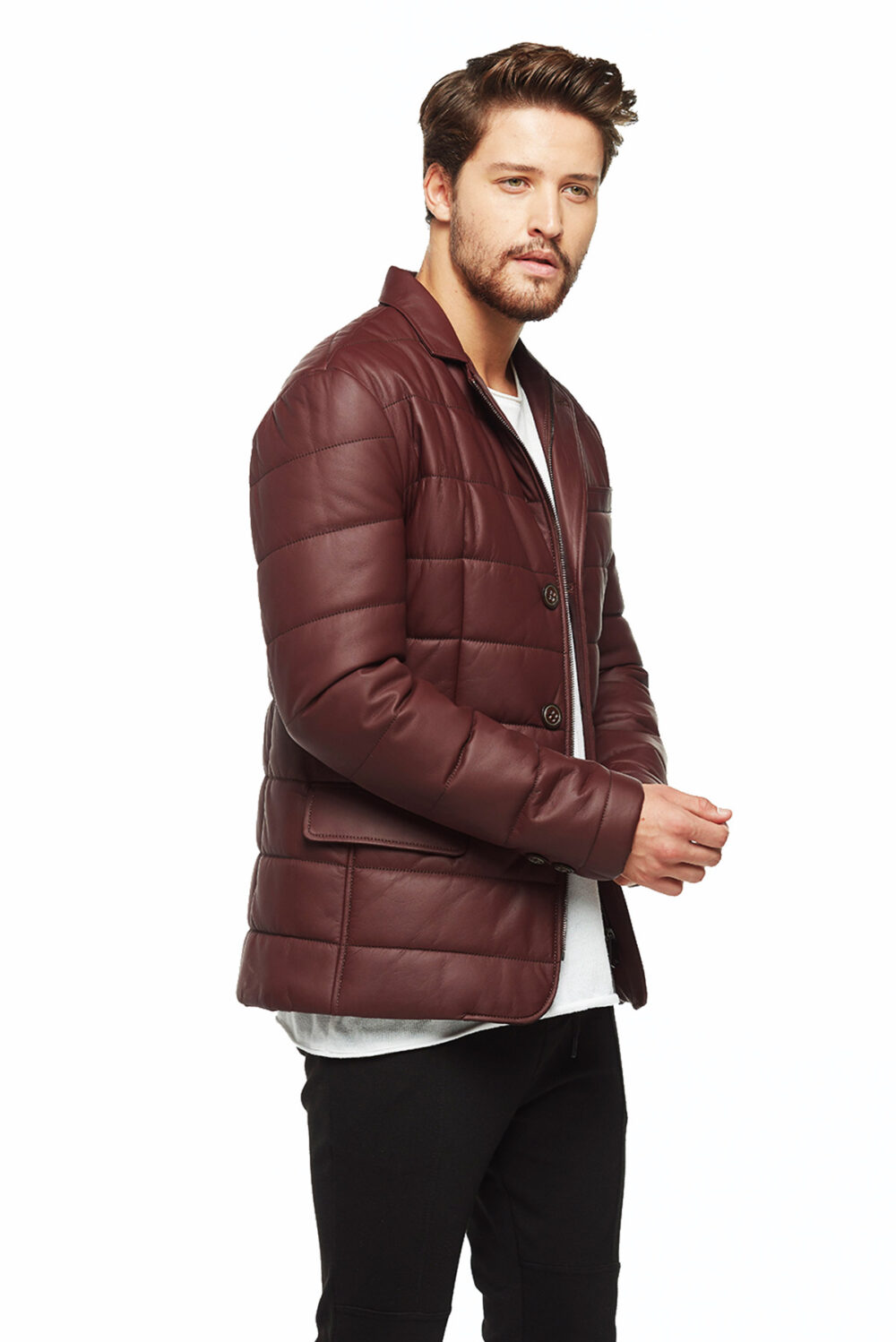 rowan row leather jacket mens