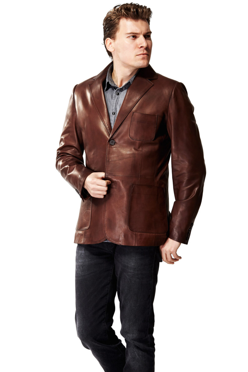 fendi men's leather jacket