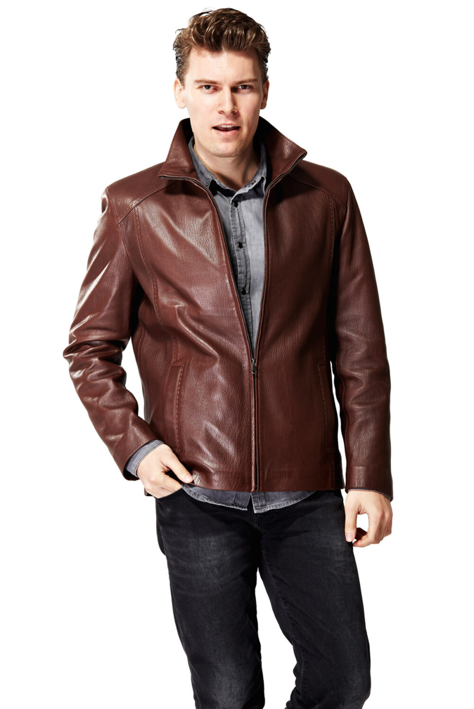 Juno Classic New Zeland Brown Leather Jacket