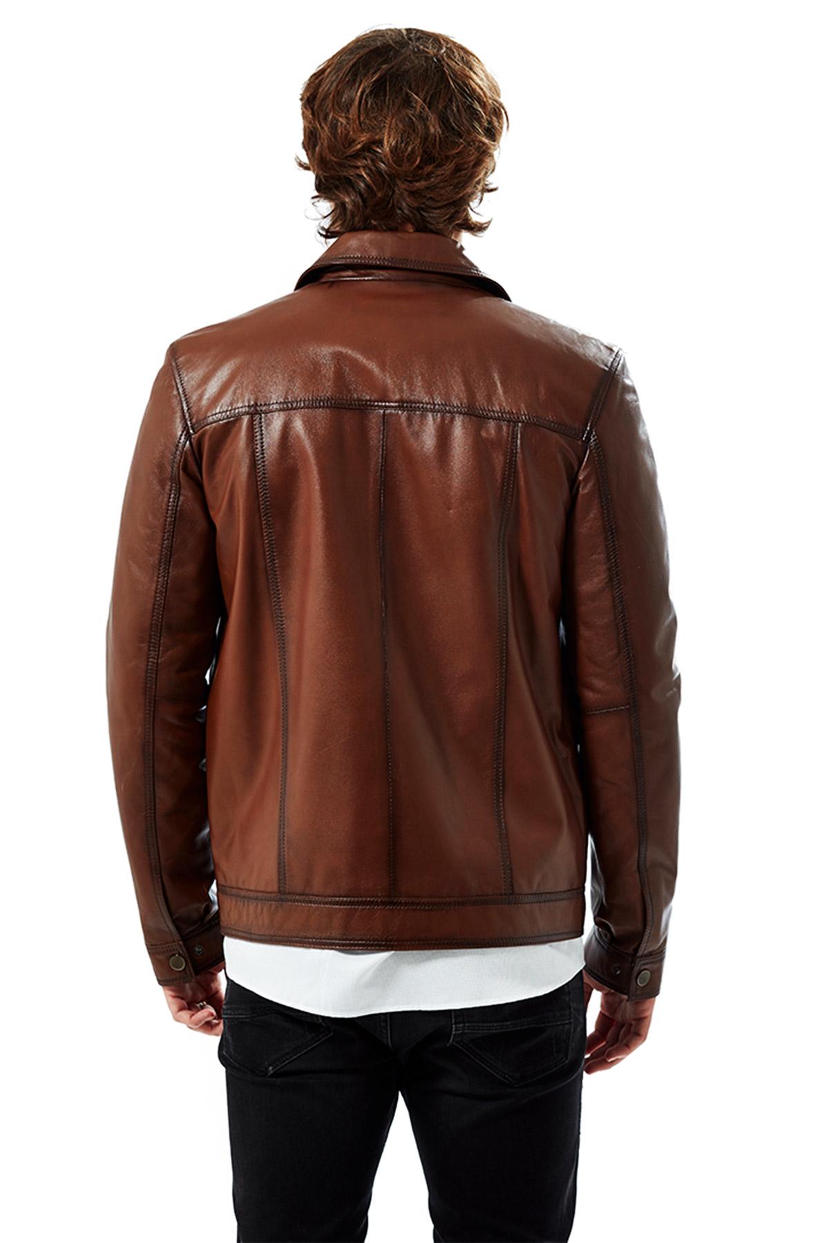 genuine leather jacket plus size