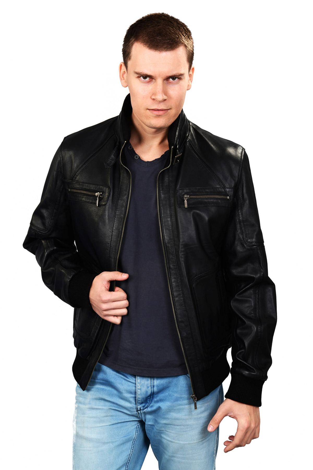 fleece lined leather jacket men