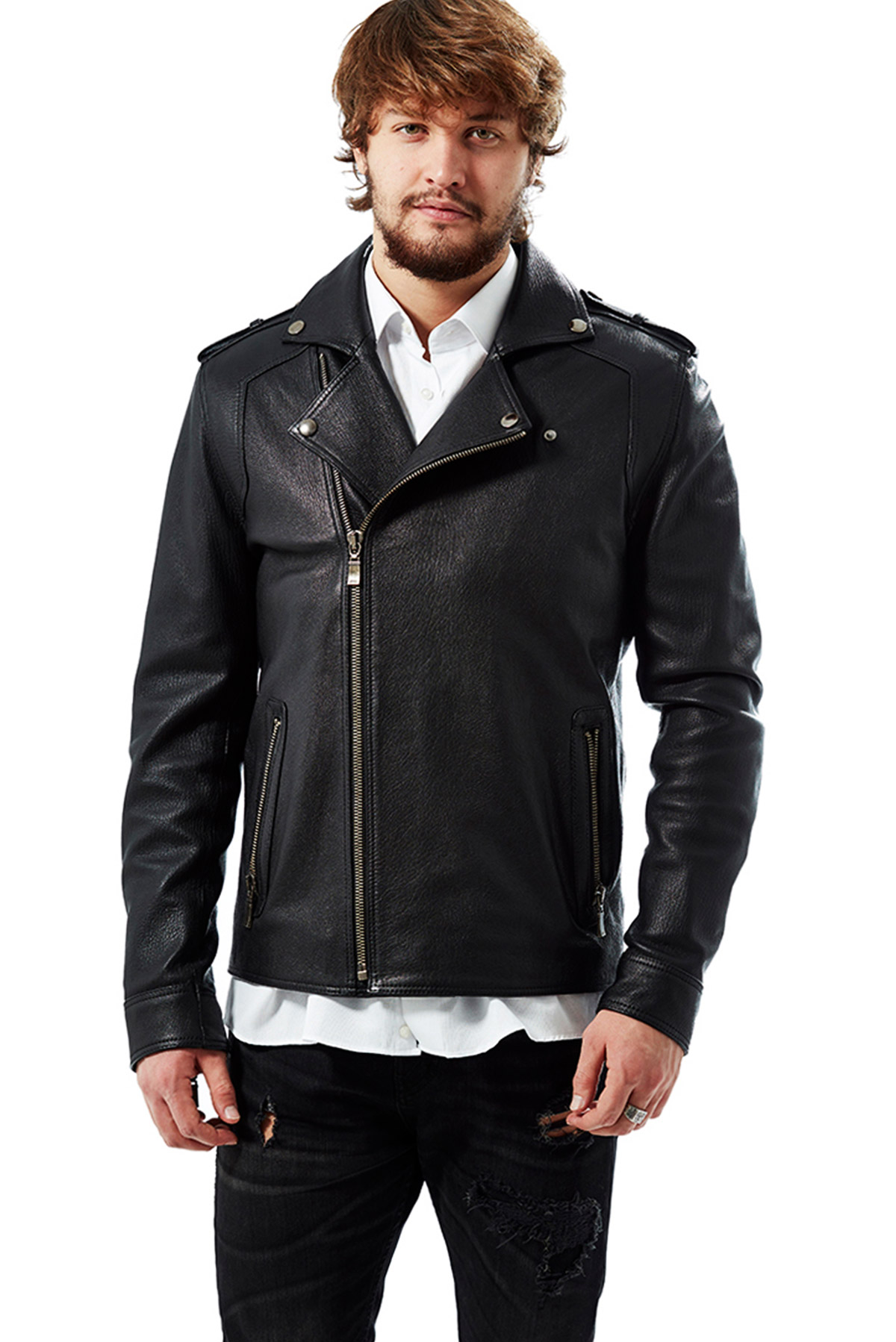 leather winter coats mens