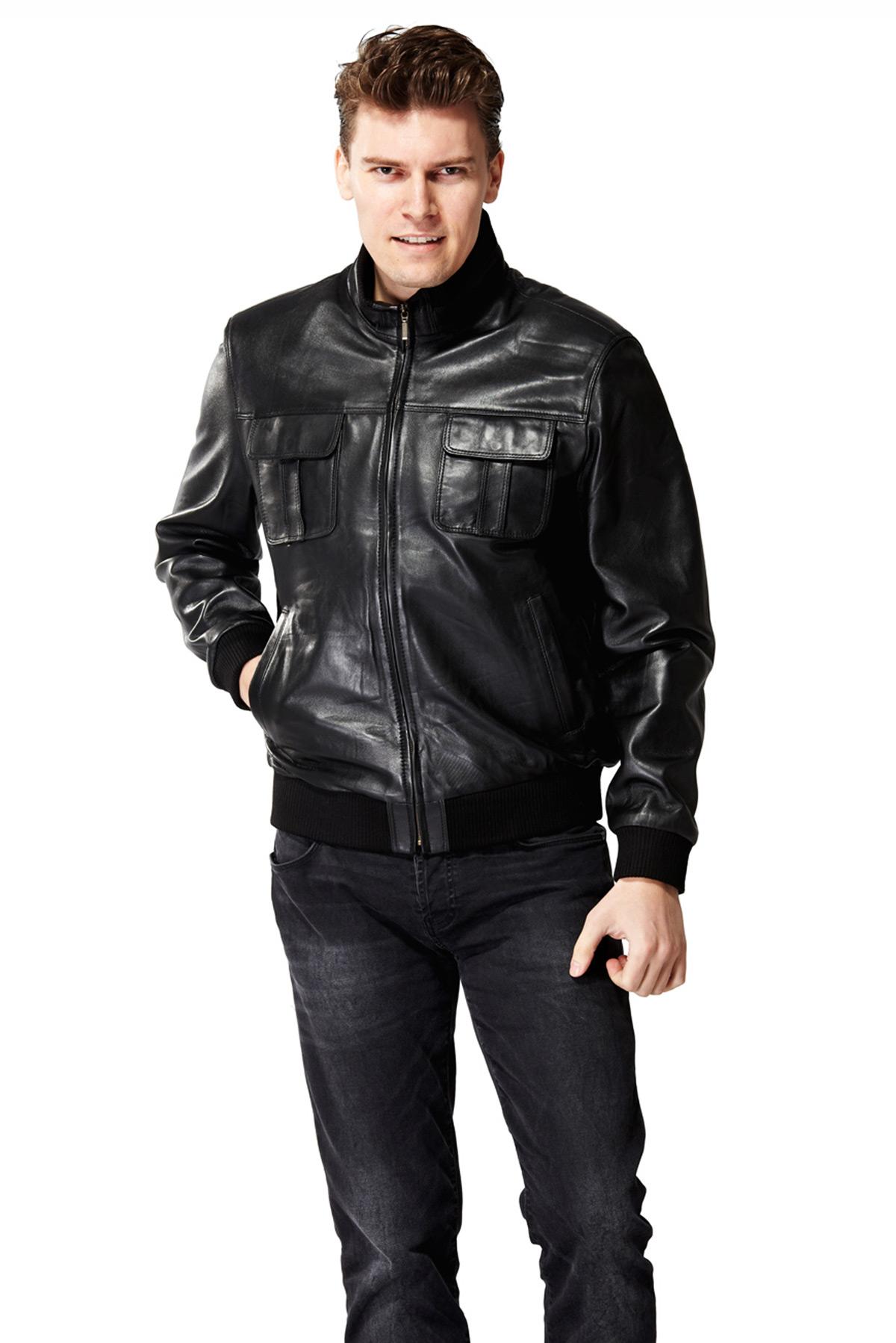 leather mens coats