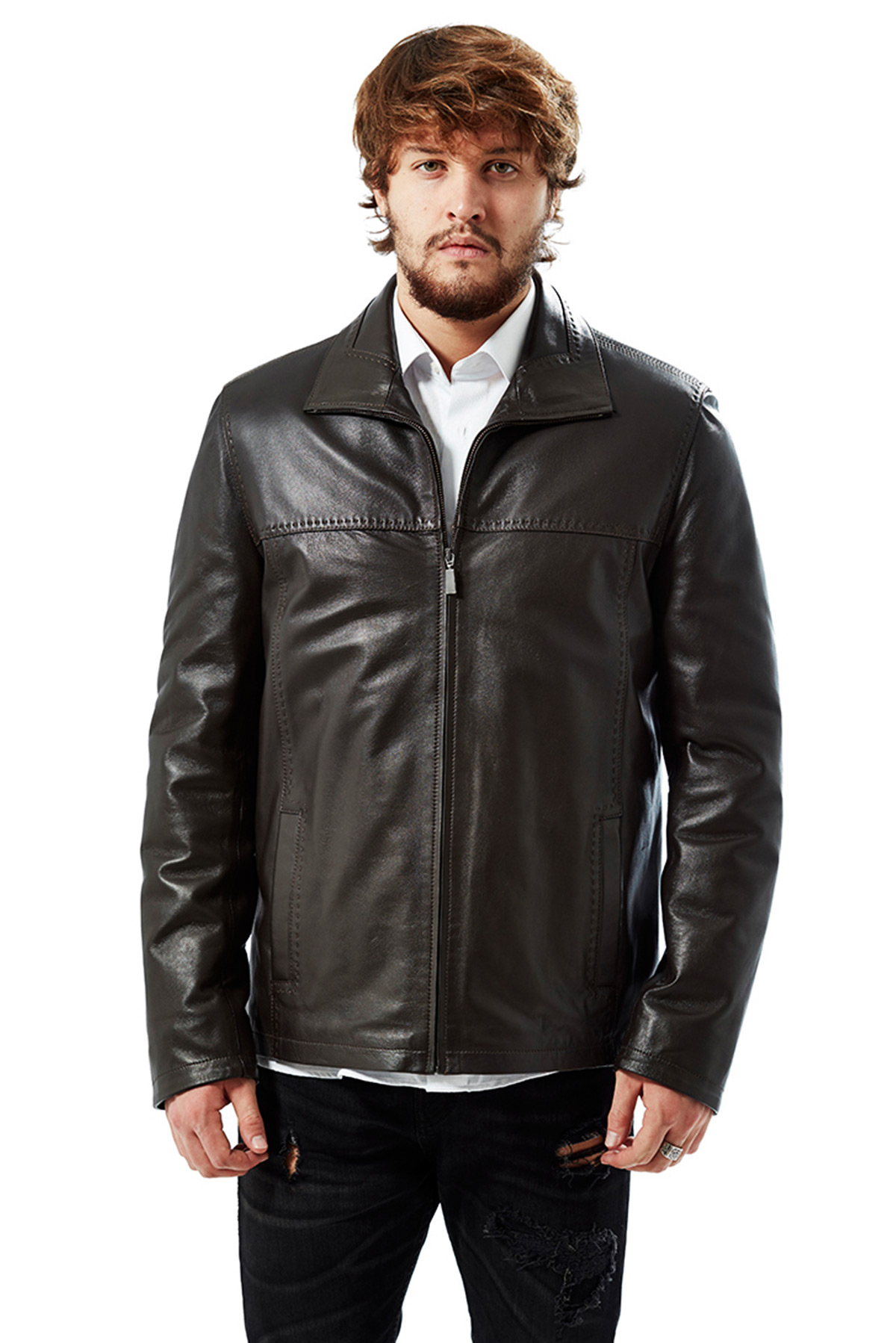 mens leather jackets winter