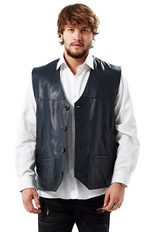 Zod Classic Men's Leather Vest