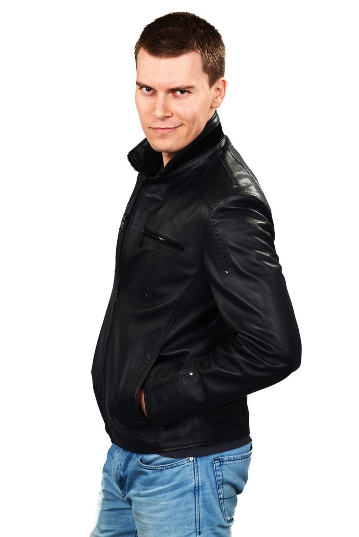 genuine leather jacket mens amazon
