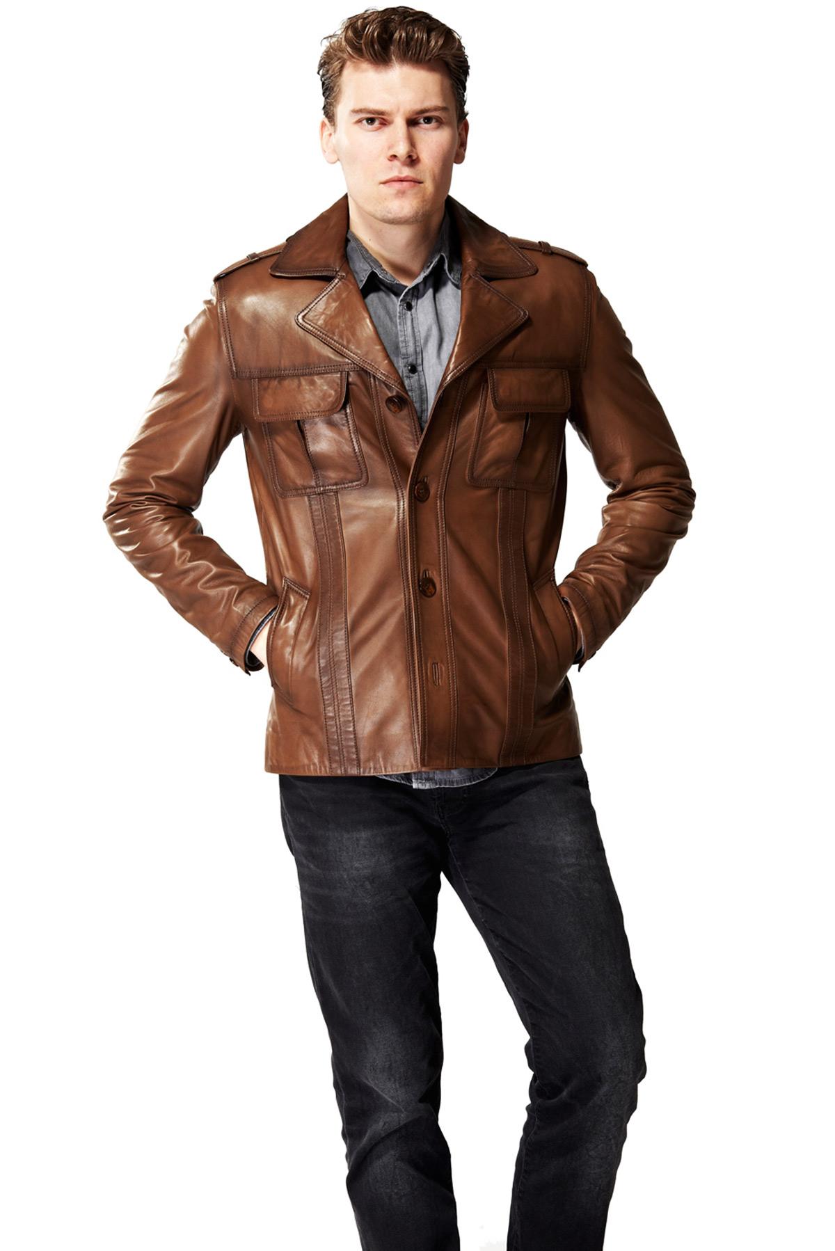 brown leather jacket mens