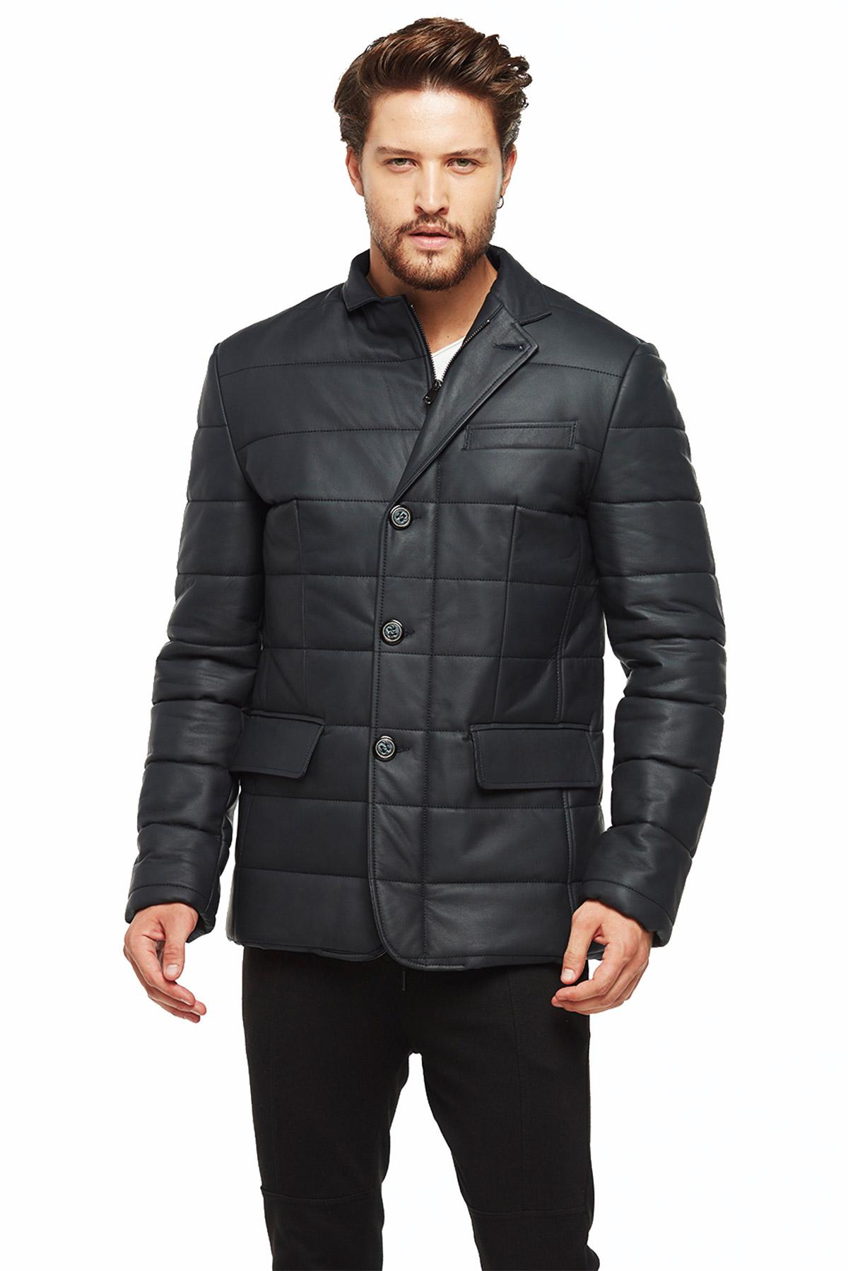 vince men's leather jacket