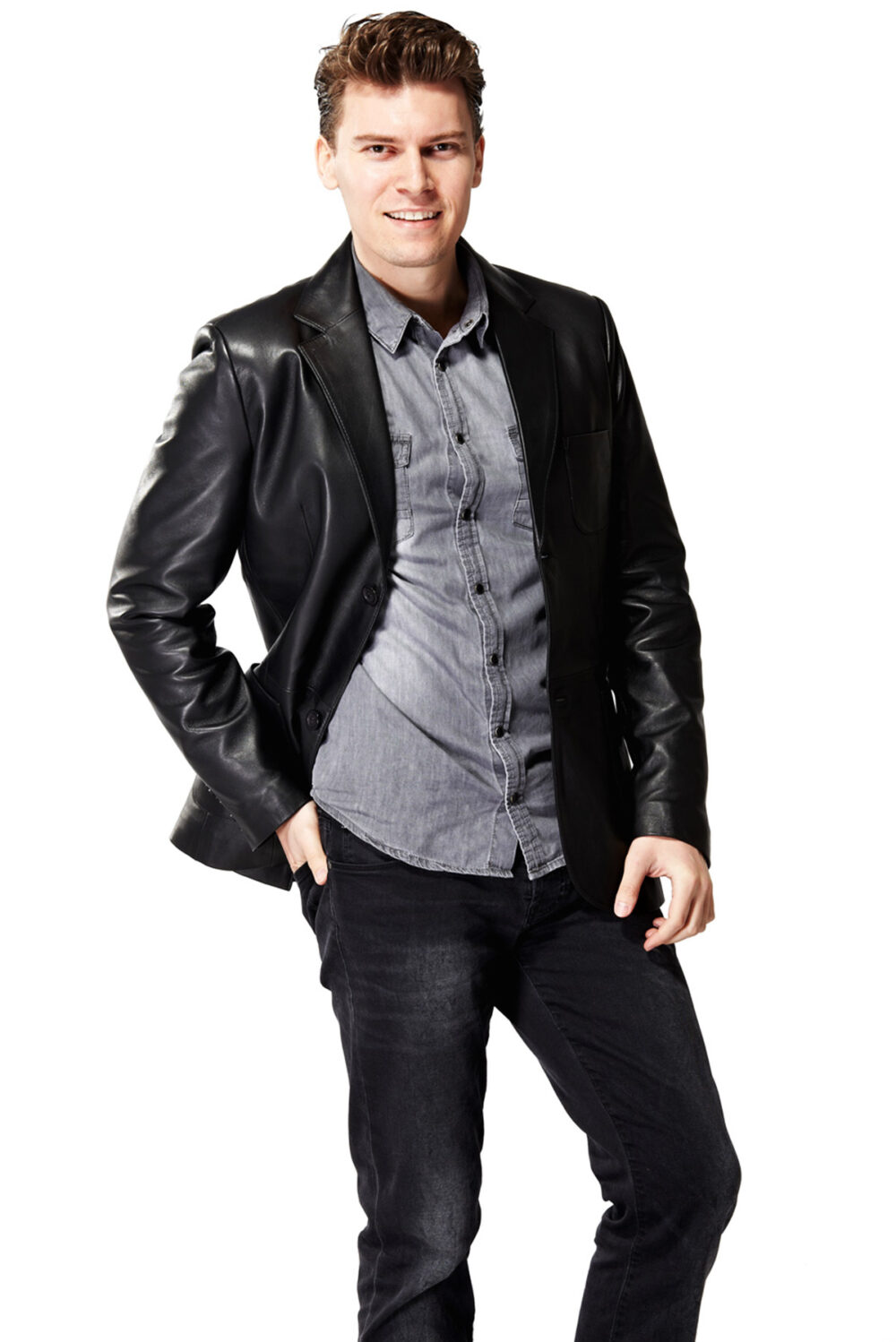 leather clothing mens