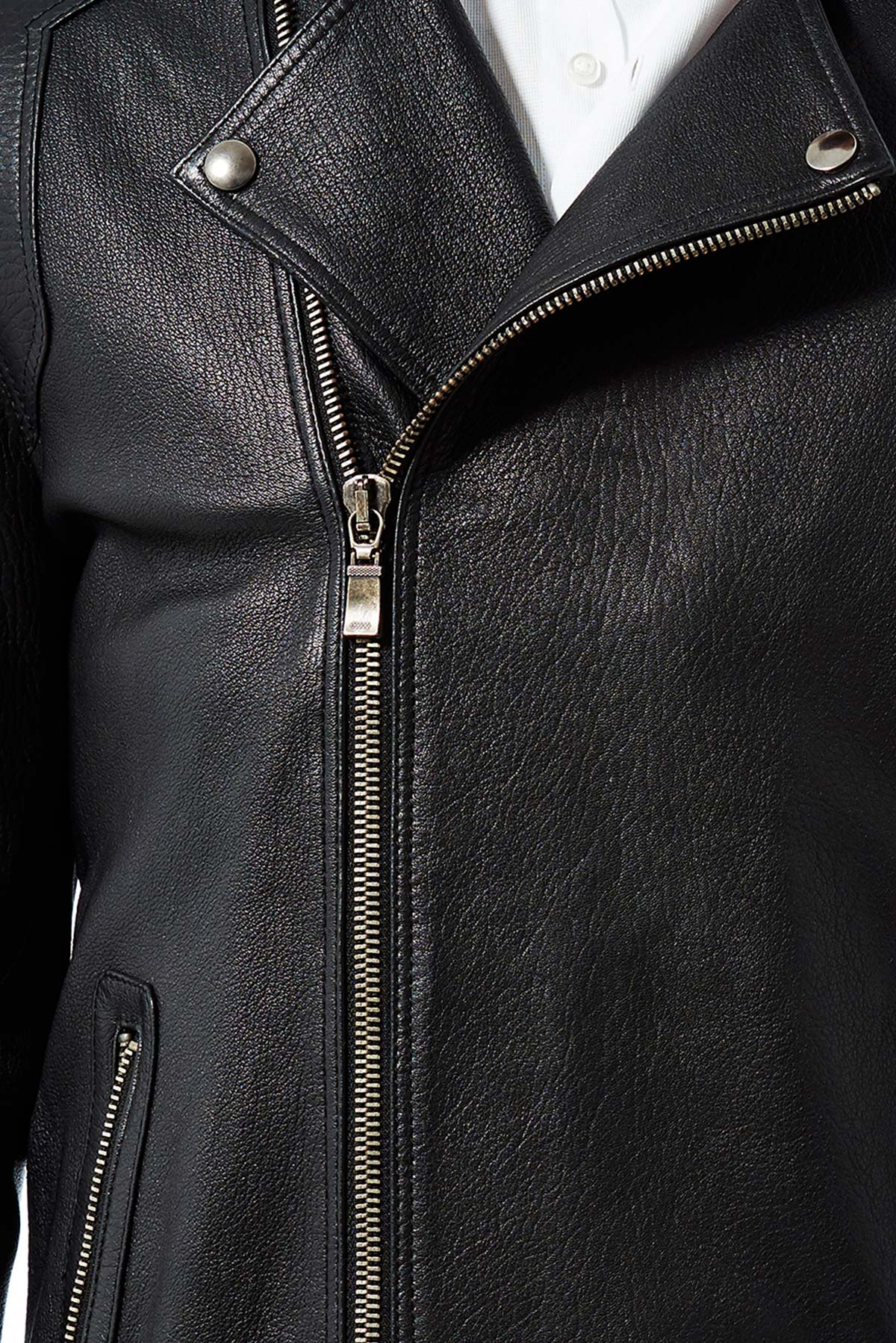 leather winter jacket mens