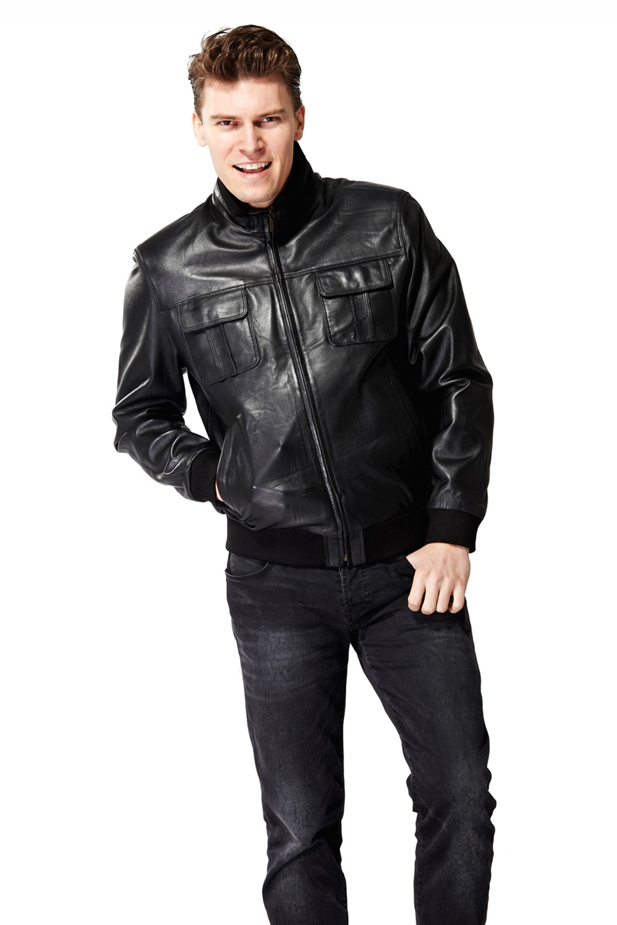 leather winter jackets
