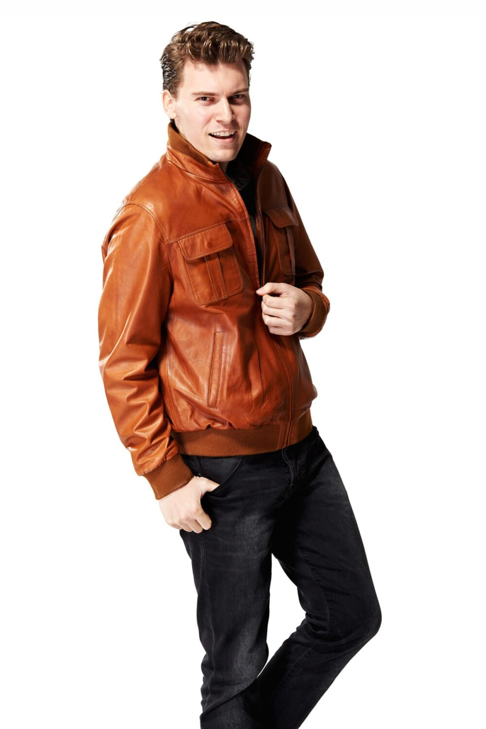mens leather jackets chicago