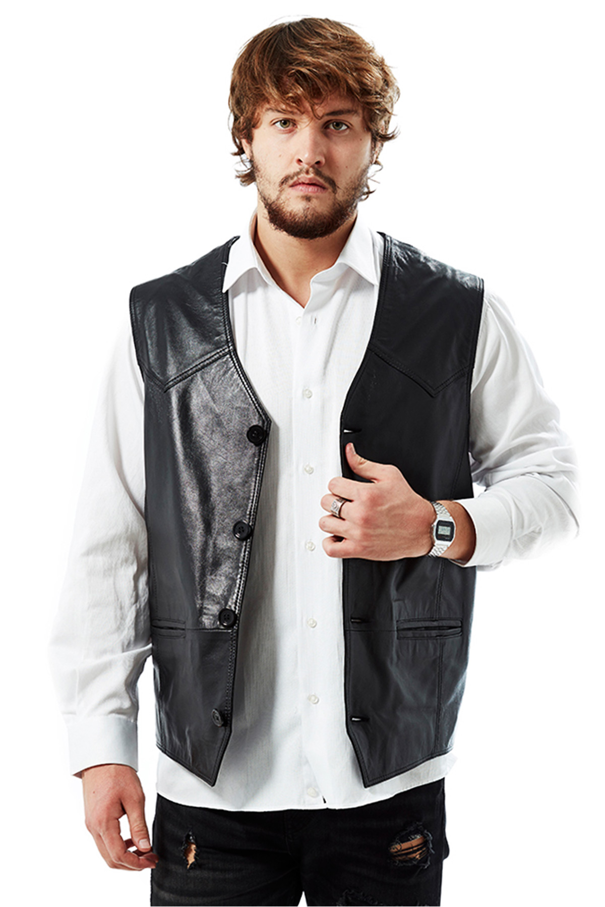 genuine leather jacket mens sale