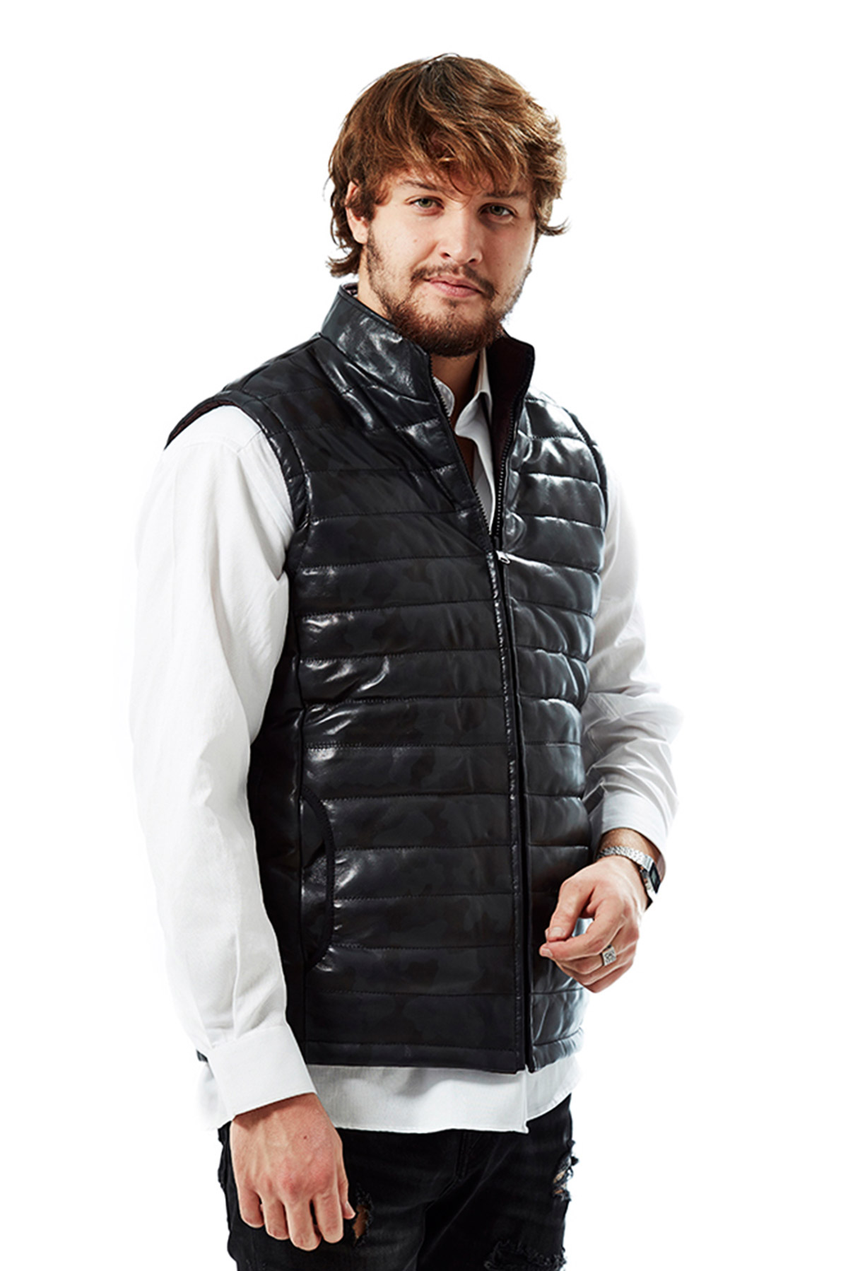 mens real leather jacket