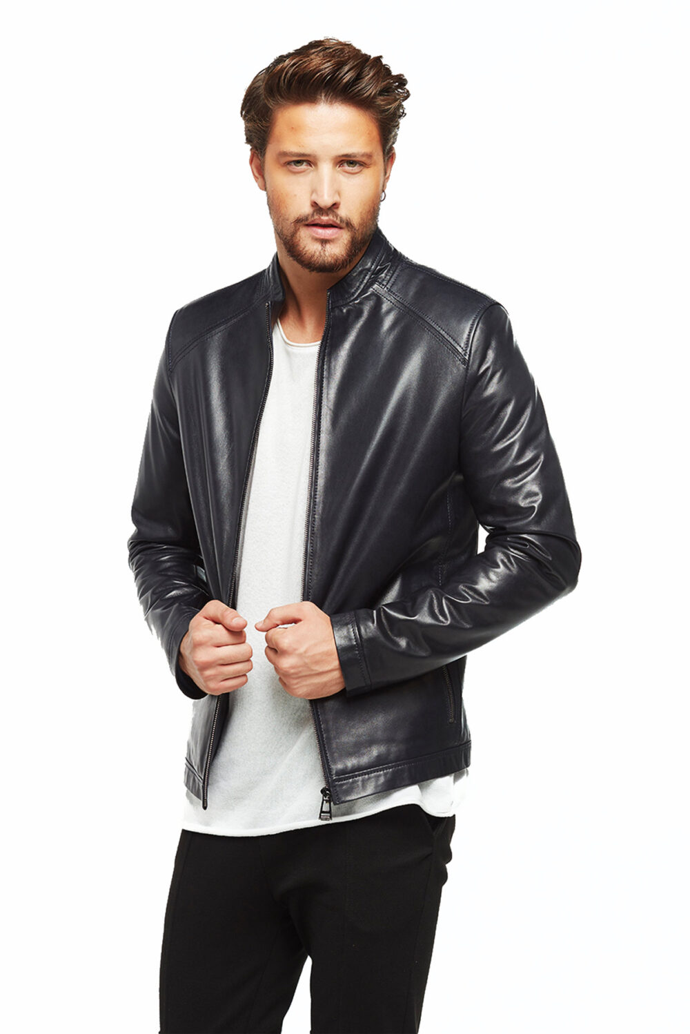 leather coats mens