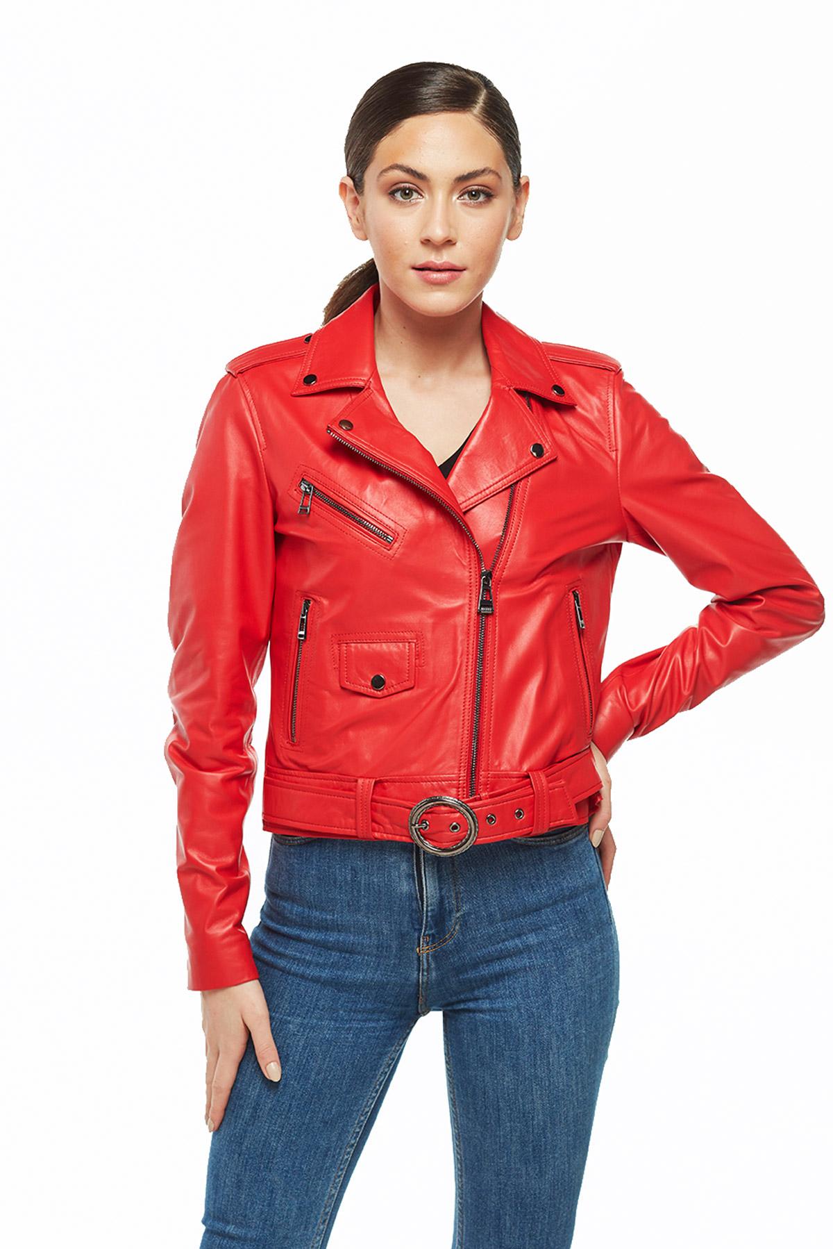 blazer leather jacket womens