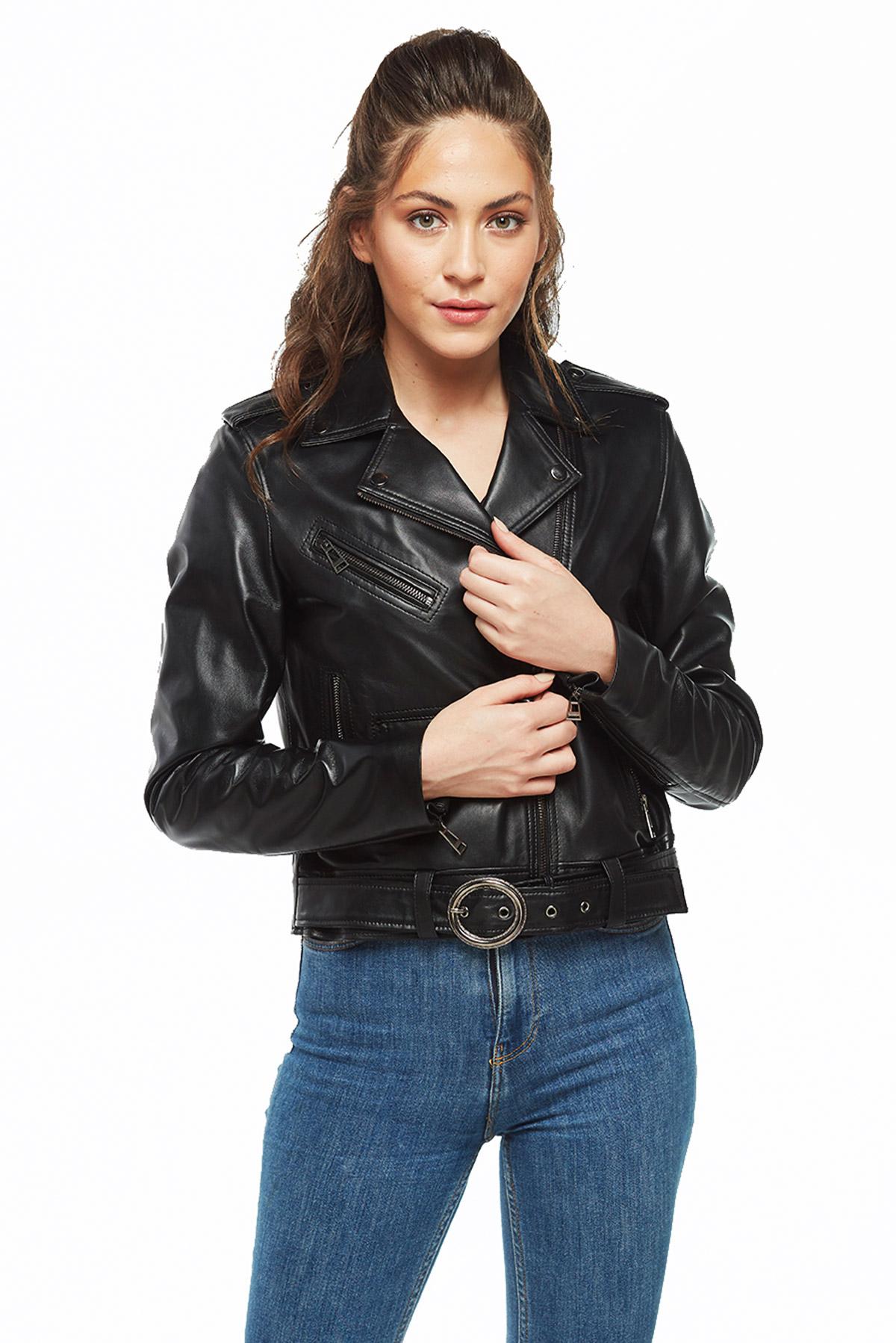 genuine leather blazer