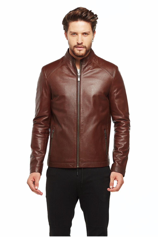 Argen New Zeland Whiskey Brown Leather Jacket