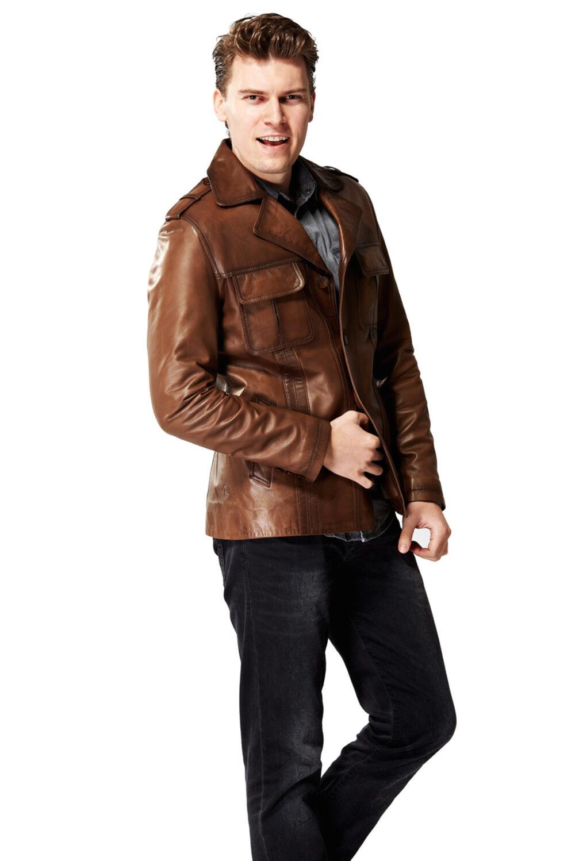 genuine leather jacket mens near me