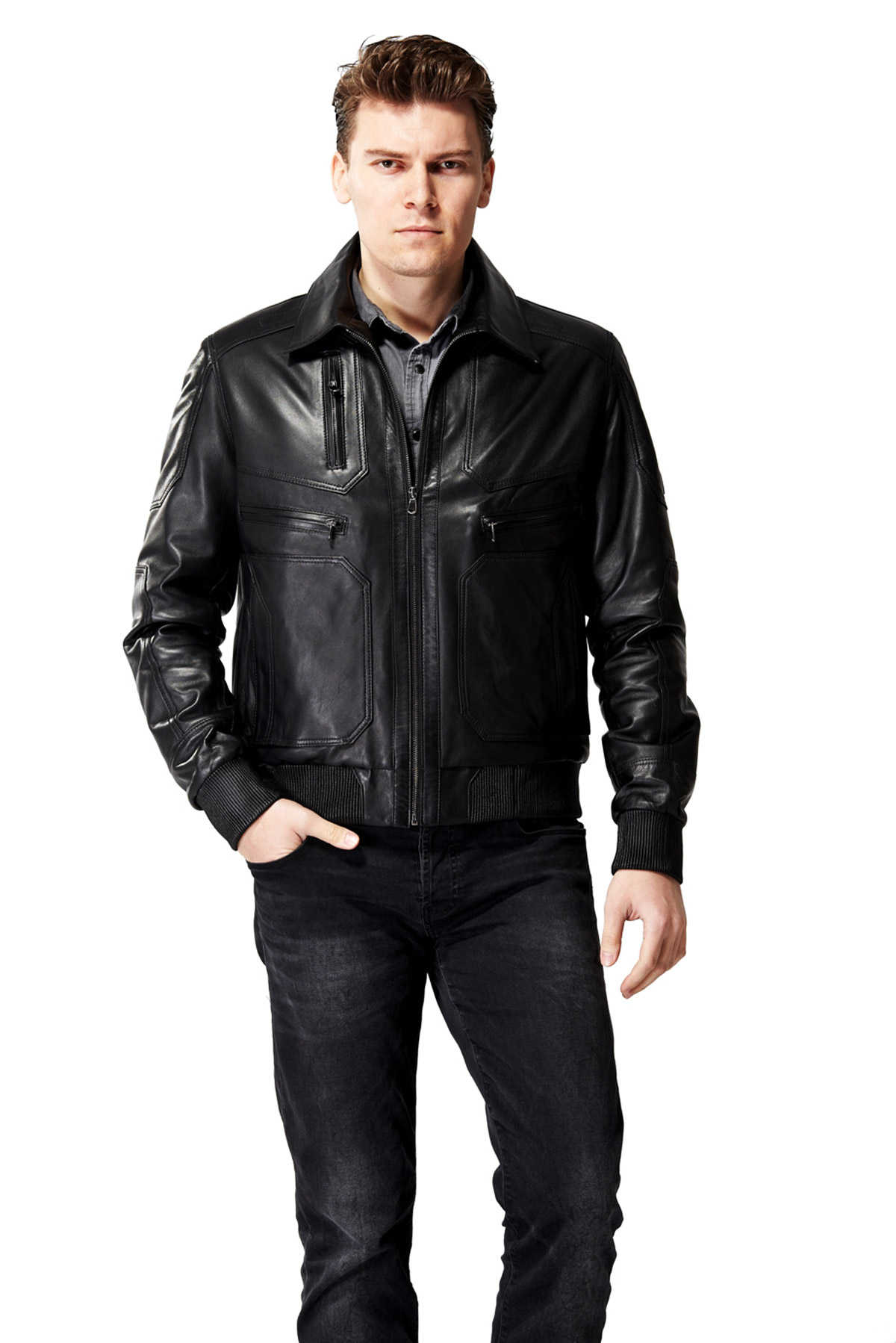 real leather jacket allsaints