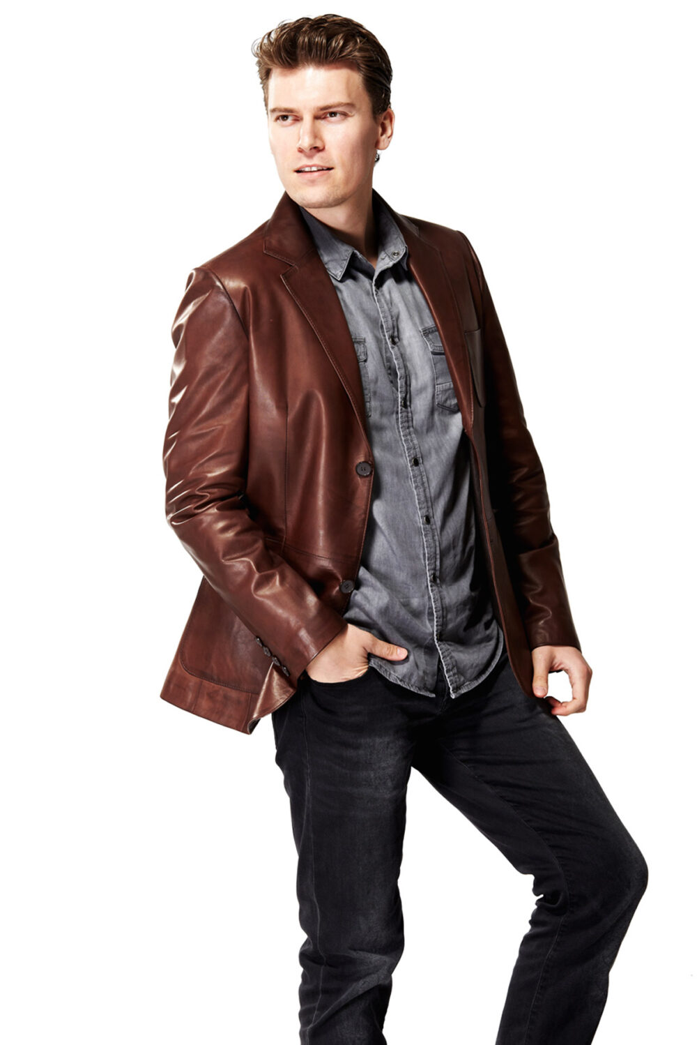 wine leather jacket
