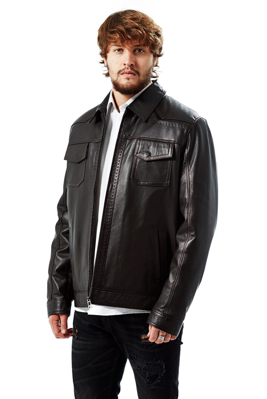 The Marco Punto Men's Leather Coat