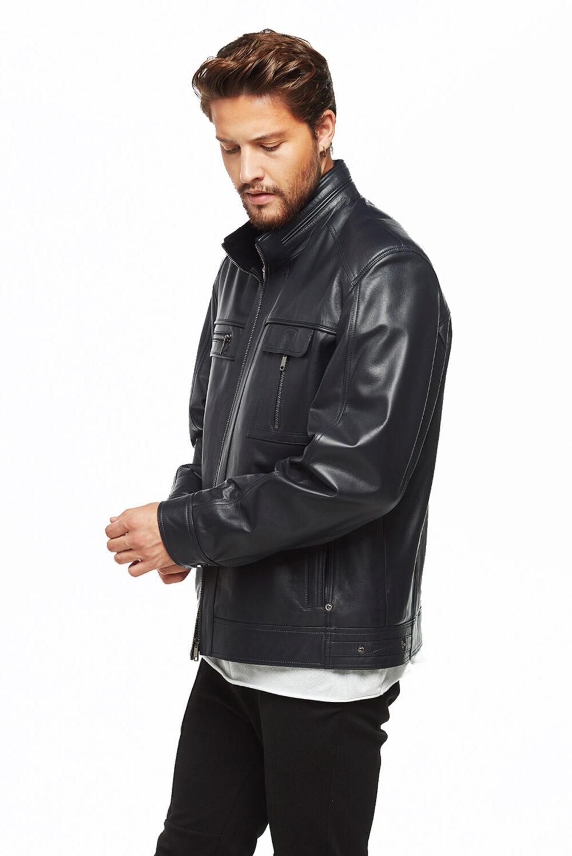 men's cognac leather jacket