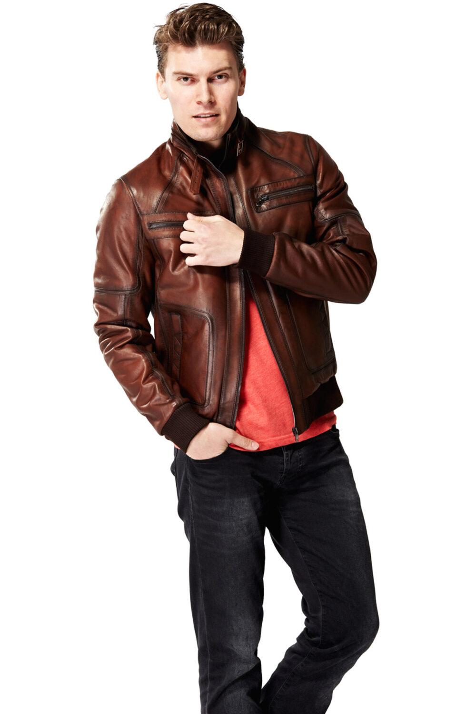 bomber leather jacket near me