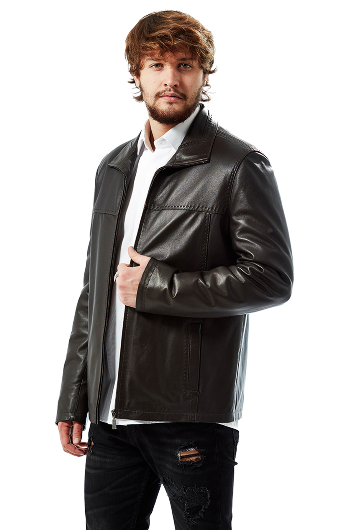 mens winter leather jacket