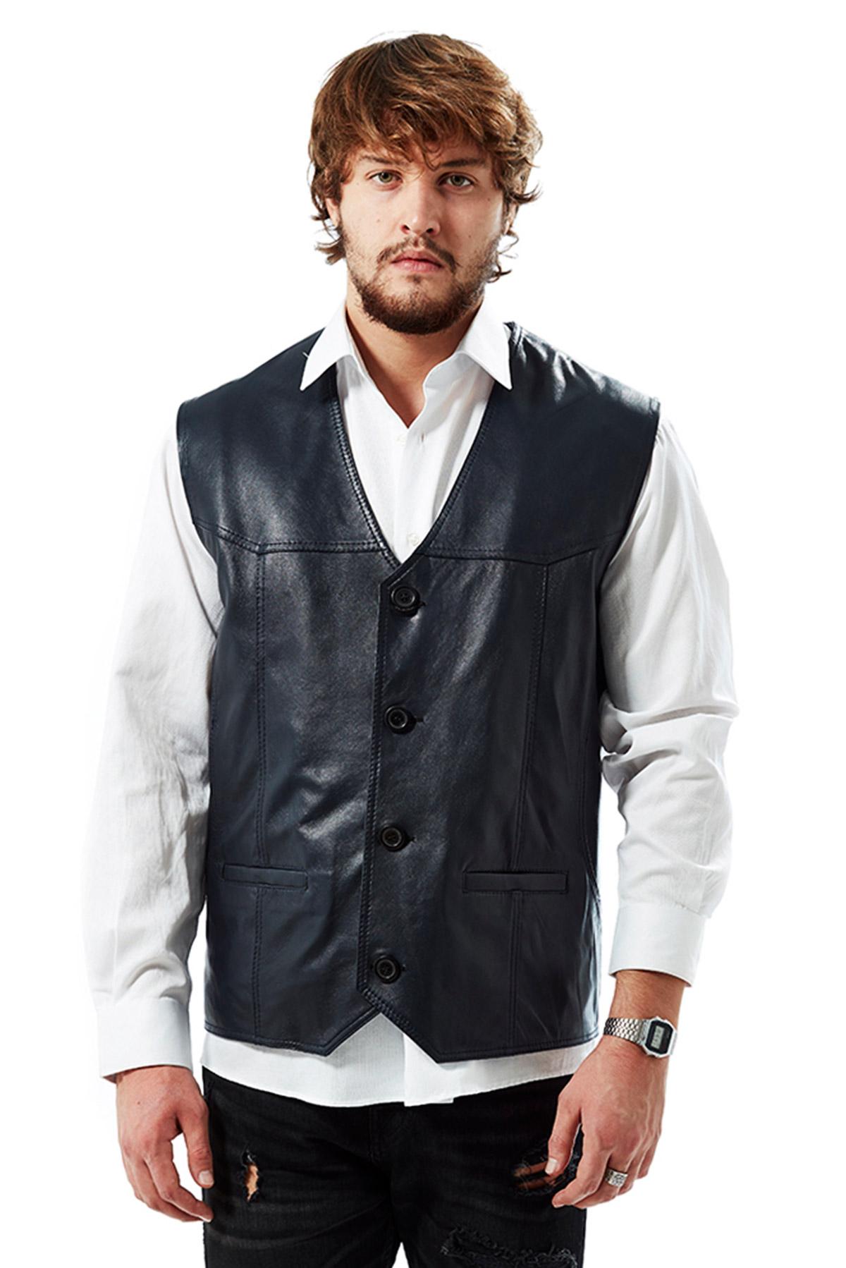 genuine leather jacket mens