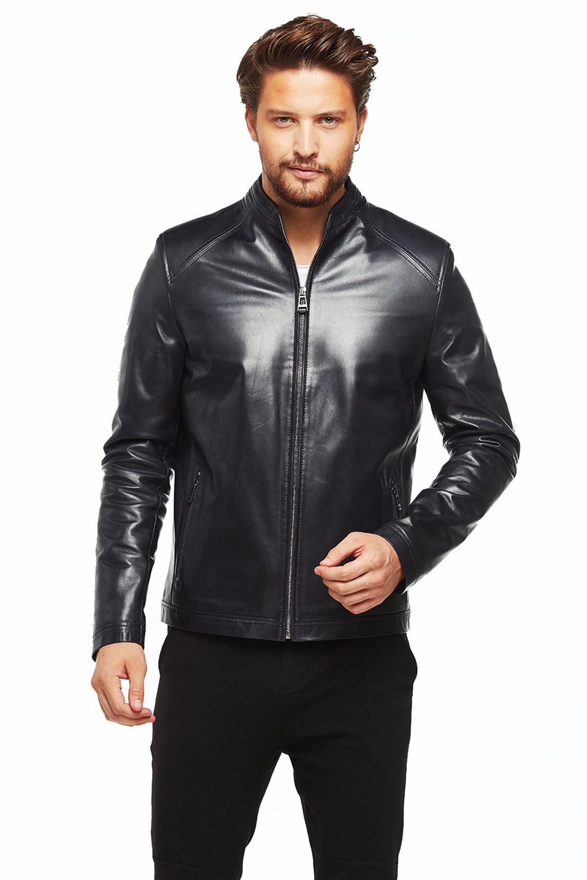 biker jacket in black