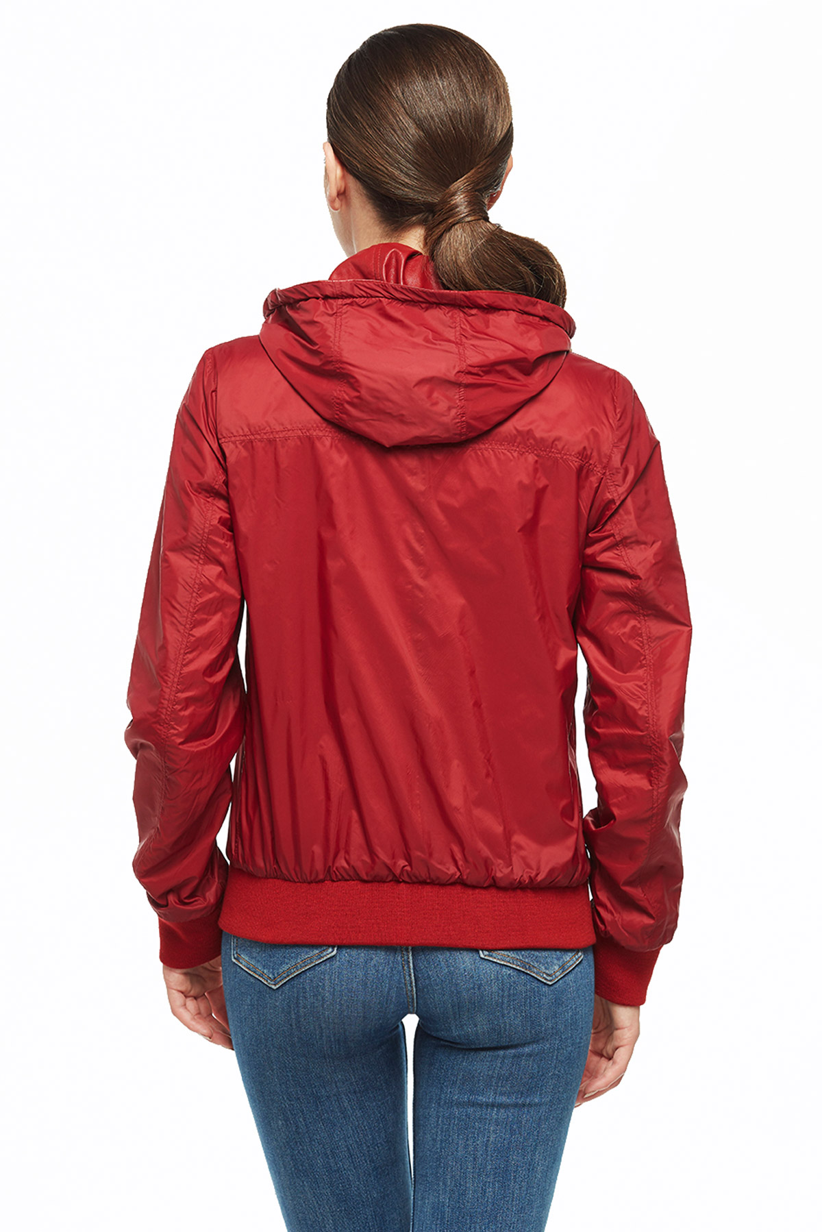 best red reversible bomber leather jacket
