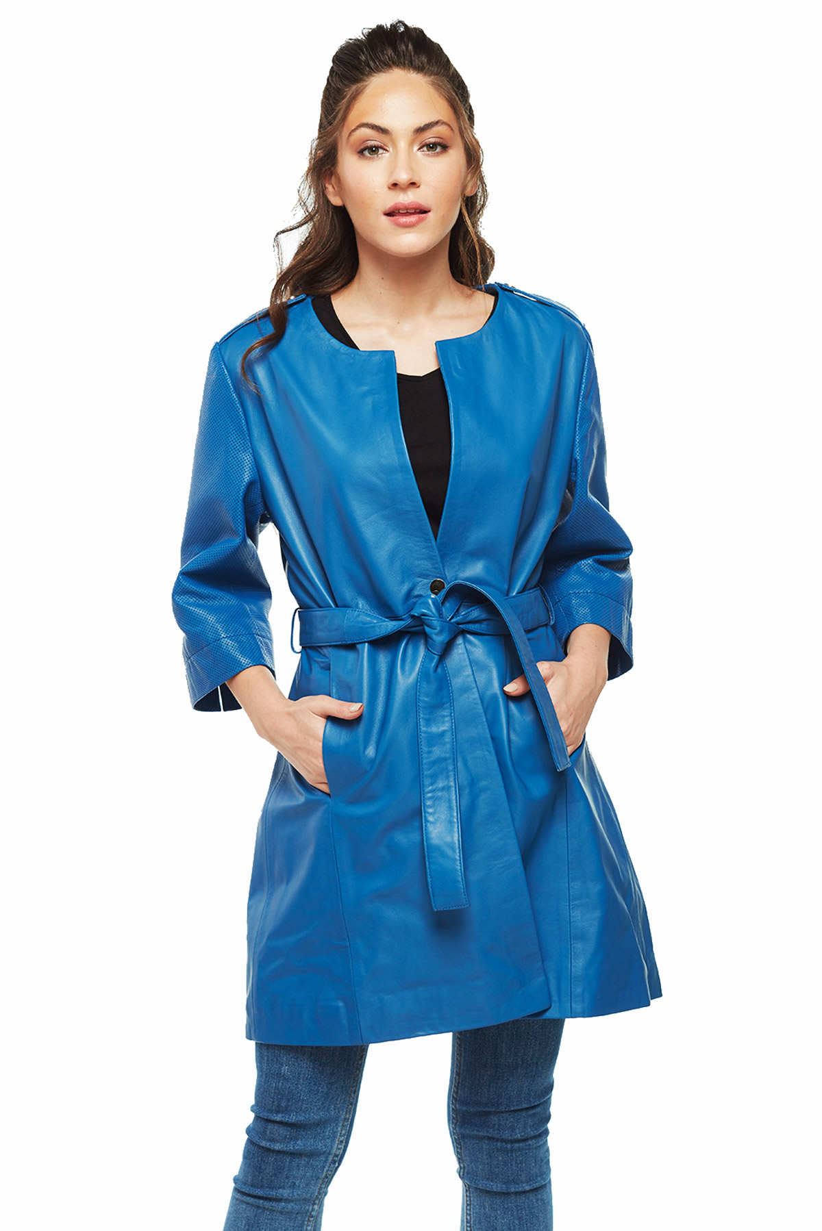womens leather winter coats
